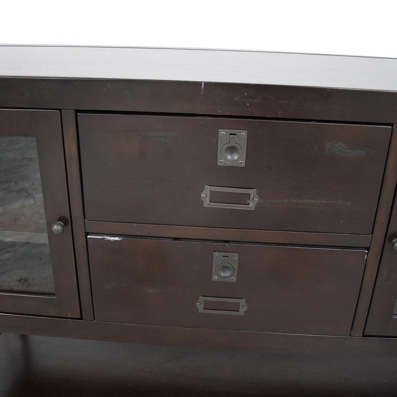 Restoration Hardware Dark Wood Buffet Restoration Hardware