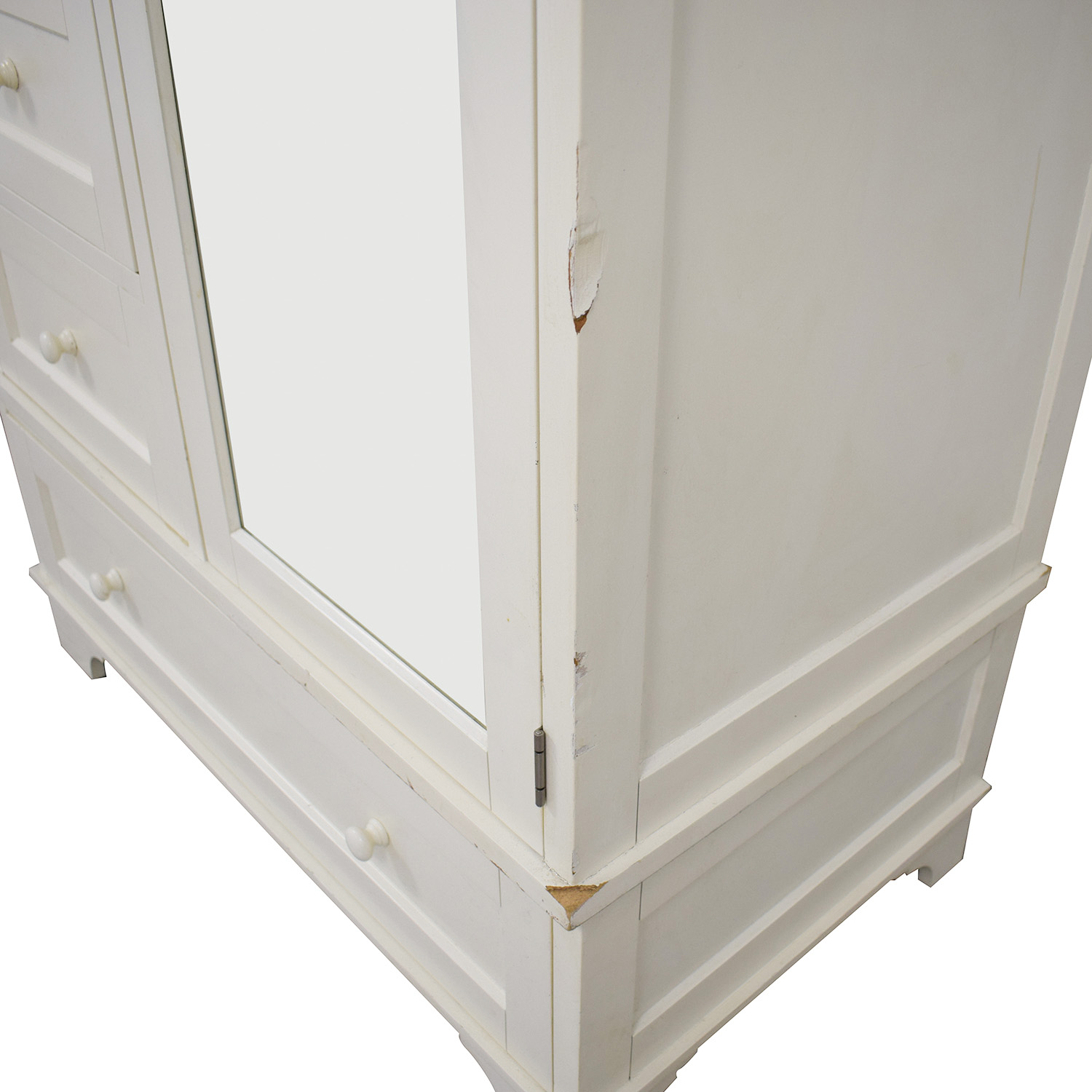 buy Pottery Barn Cynthia Chiffonier Armoire in White Pottery Barn Wardrobes & Armoires