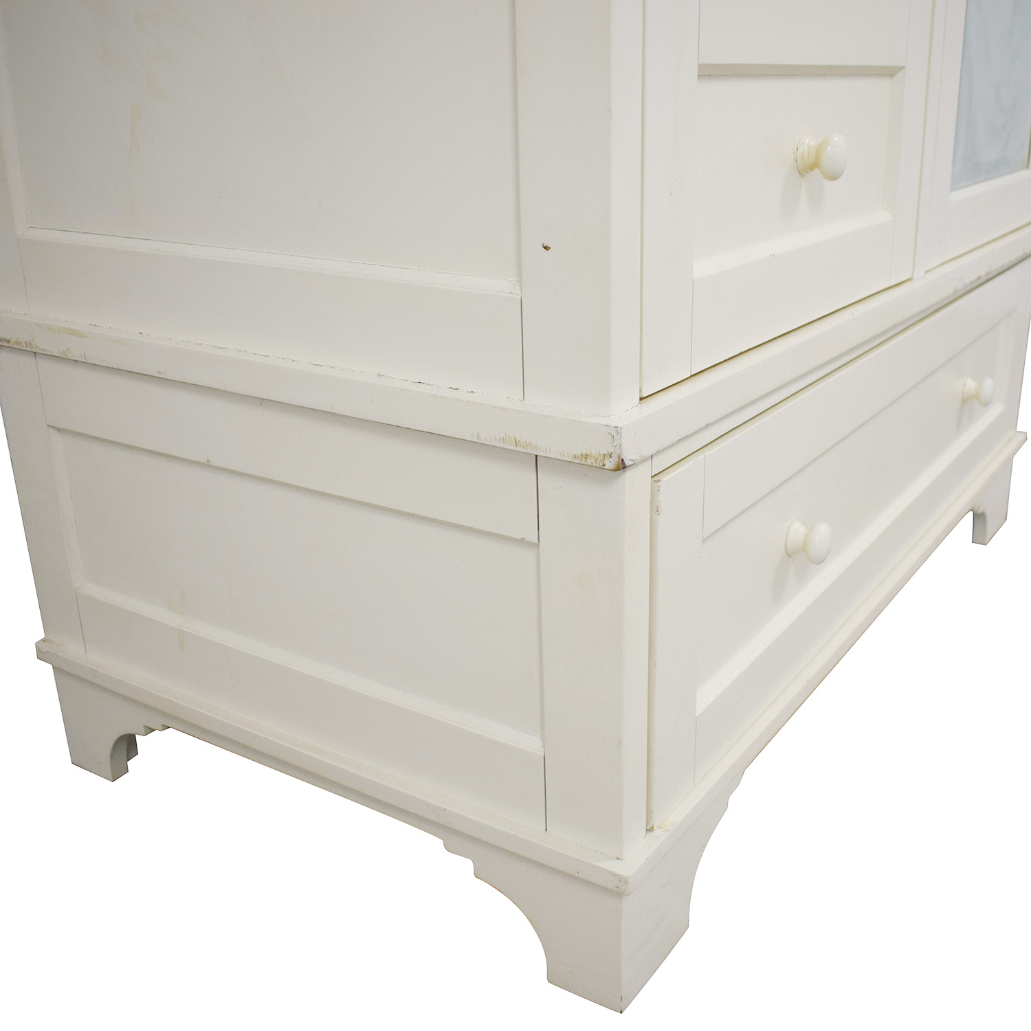 shop Pottery Barn Cynthia Chiffonier Armoire in White Pottery Barn Wardrobes & Armoires