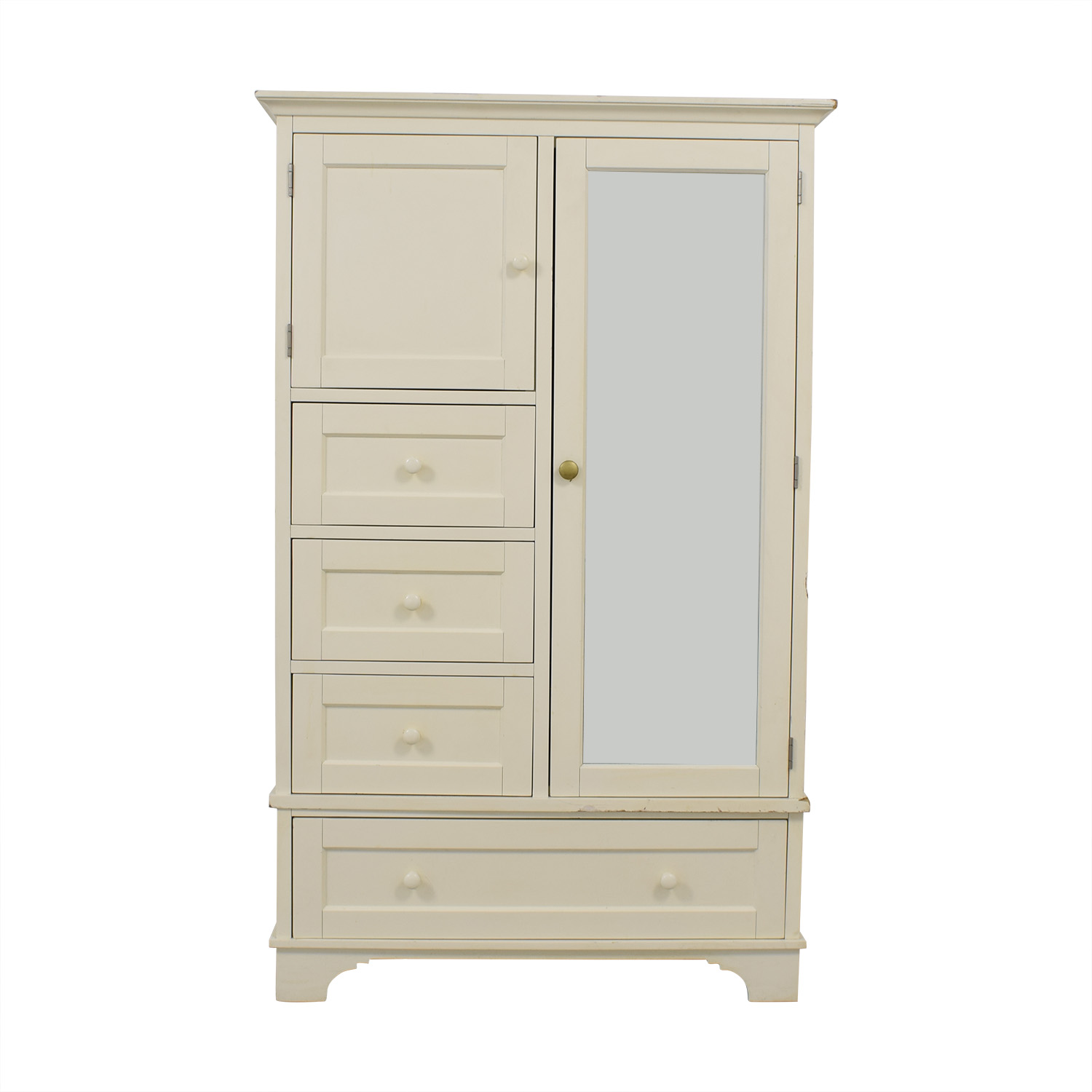 buy Pottery Barn Cynthia Chiffonier Armoire in White Pottery Barn