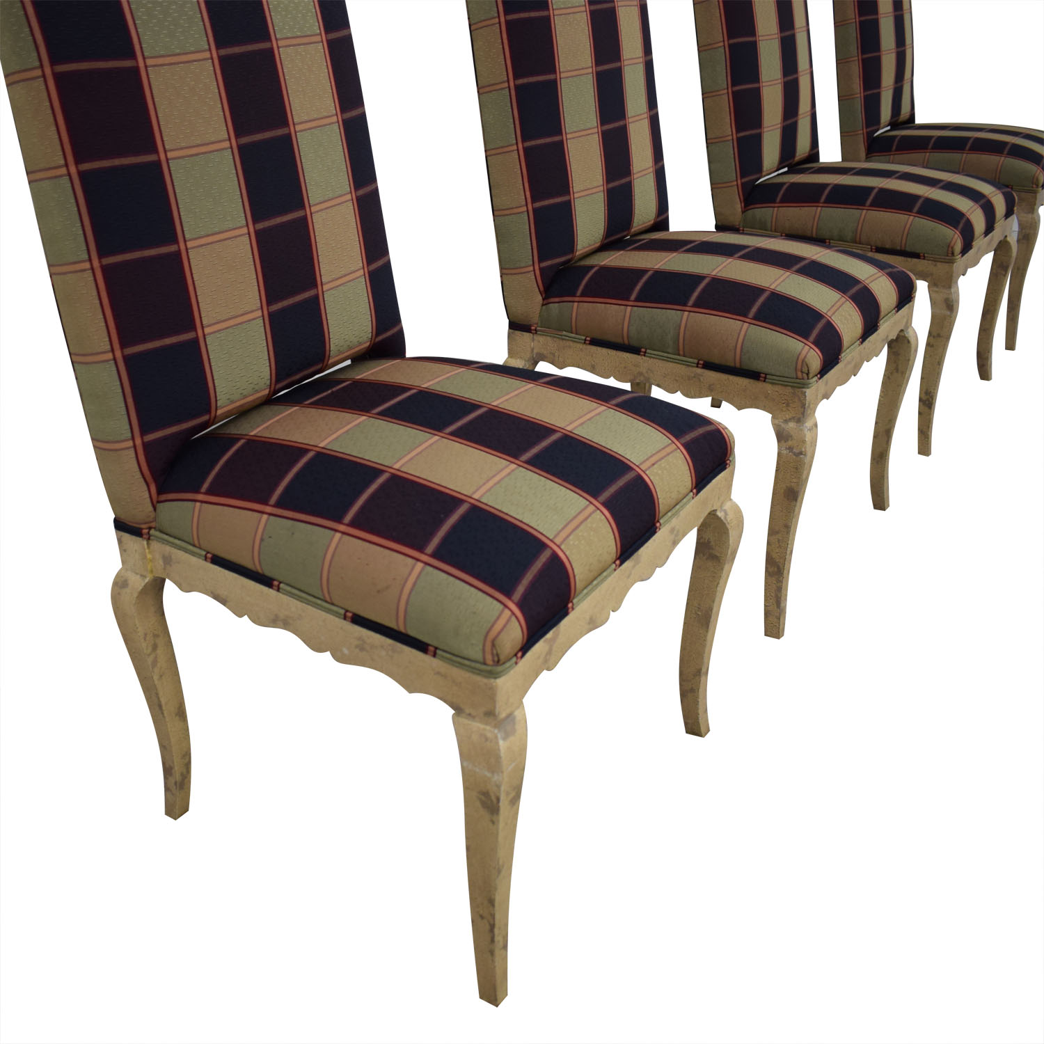 Custom Fabric Dining Chairs second hand