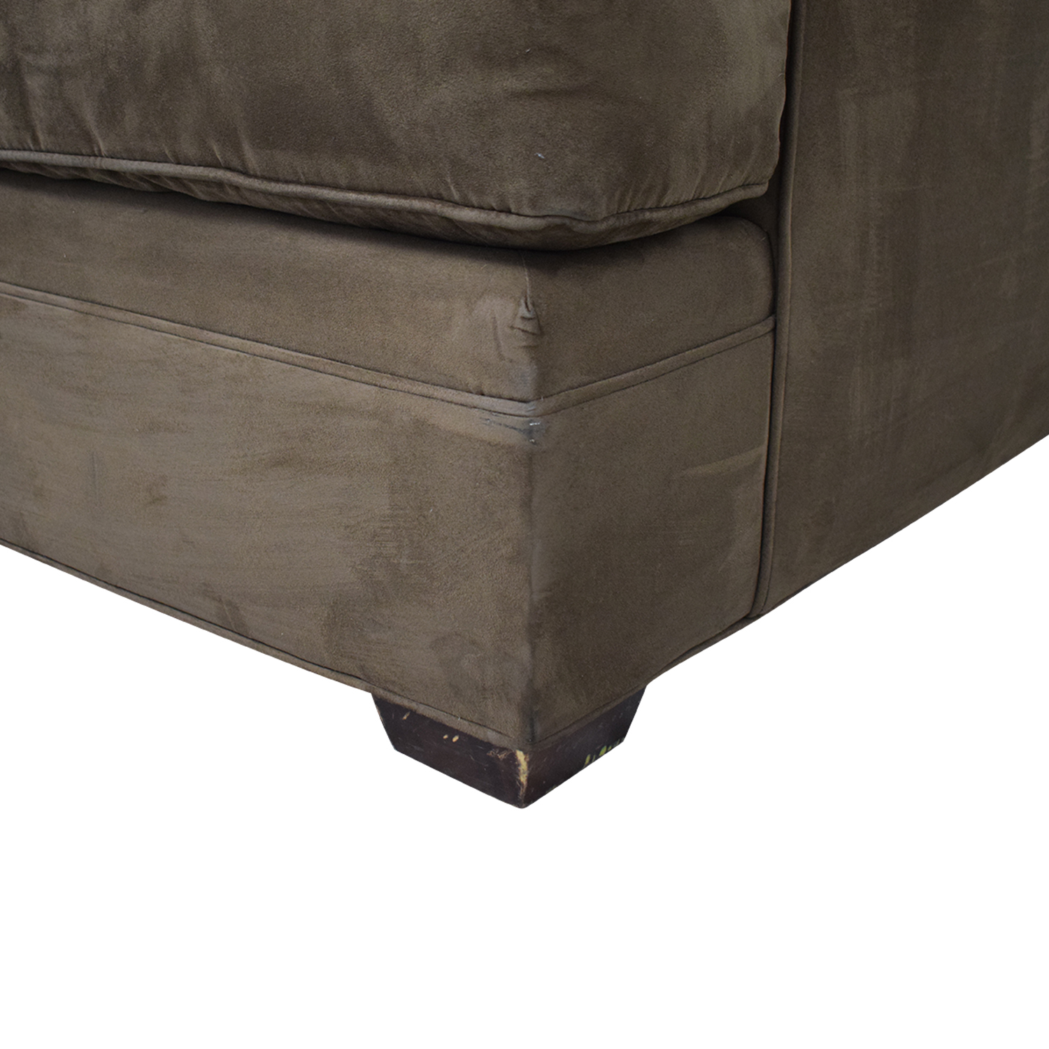 Crate & Barrel Crate & Barrel Brown Suede Loveseat used
