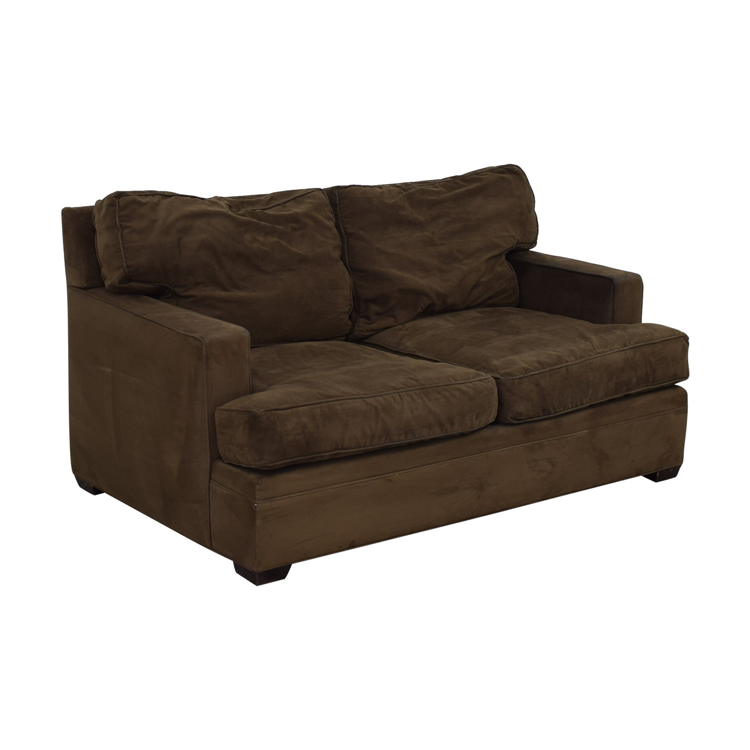 Crate & Barrel Crate & Barrel Brown Suede Loveseat