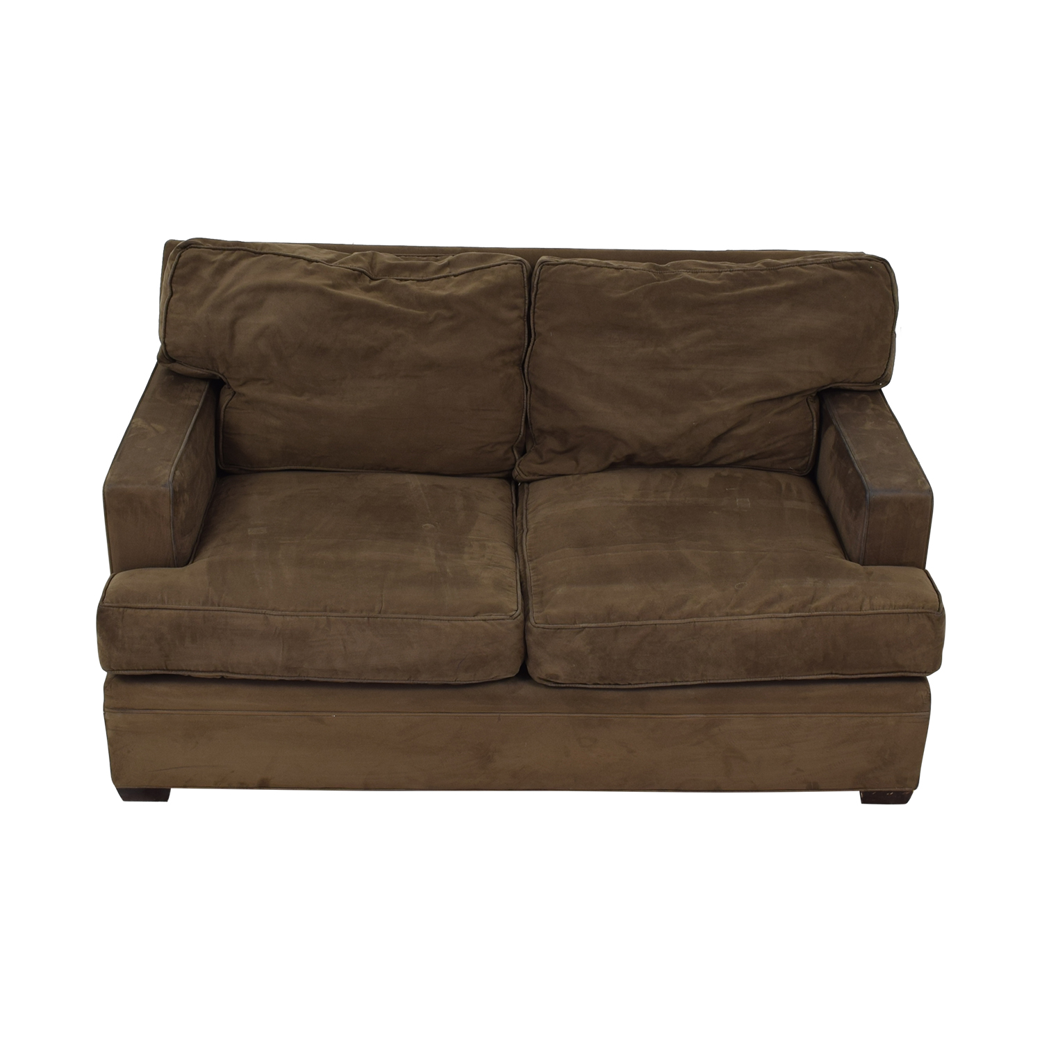 buy Crate & Barrel Brown Suede Loveseat Crate & Barrel Loveseats