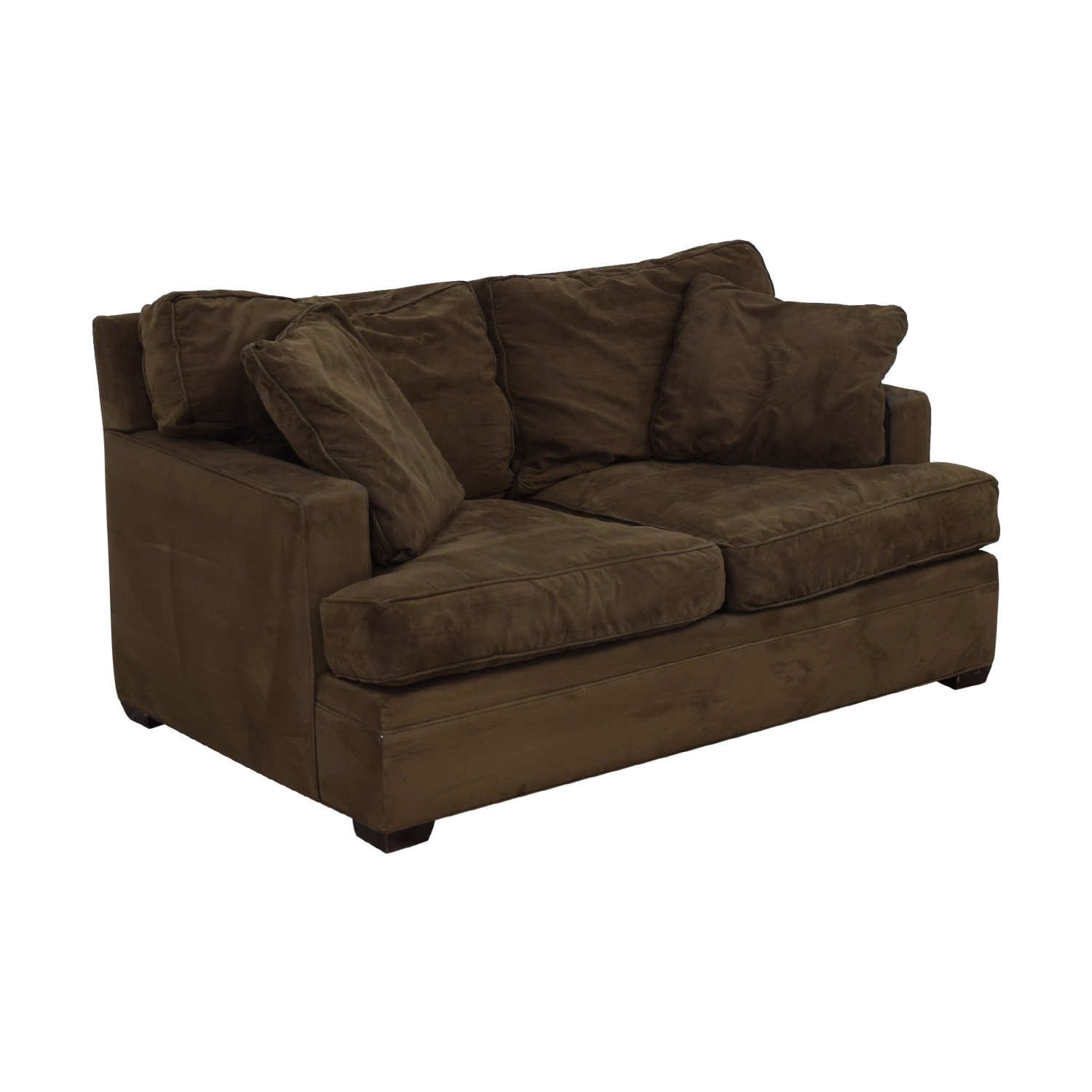 Crate & Barrel Crate & Barrel Brown Suede Loveseat nj