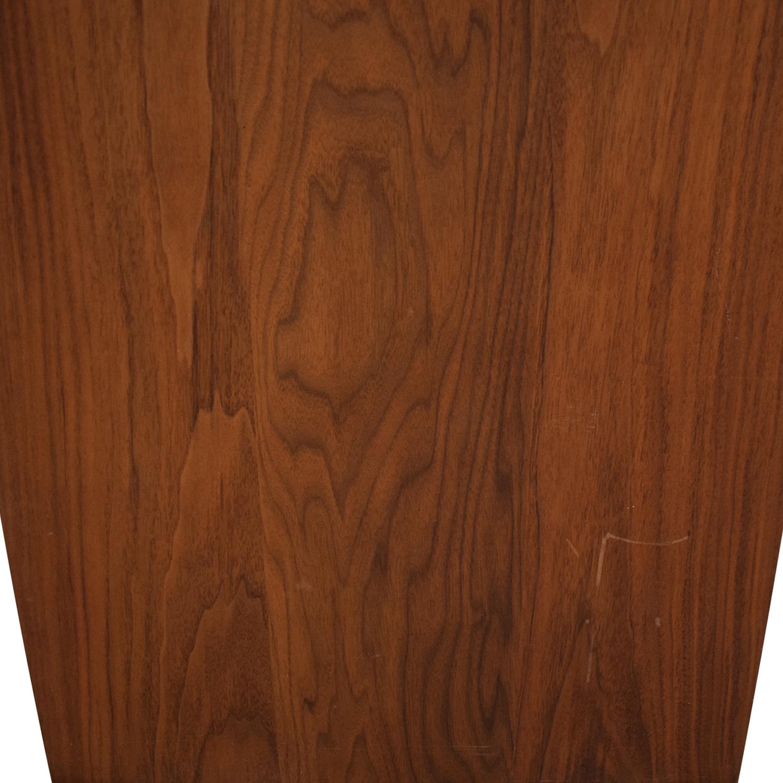 Custom Solid Walnut Cabinet with Sliding Plexiglass Doors and Walnut Handles Storage