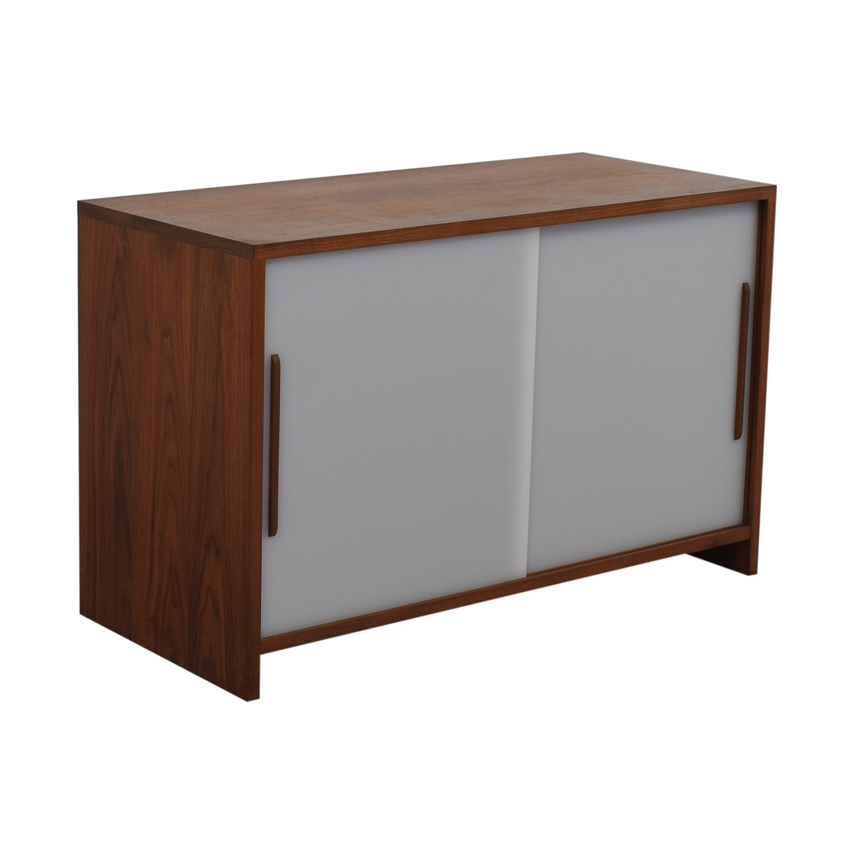 Custom Solid Walnut Cabinet with Sliding Plexiglass Doors and Walnut Handles dimensions