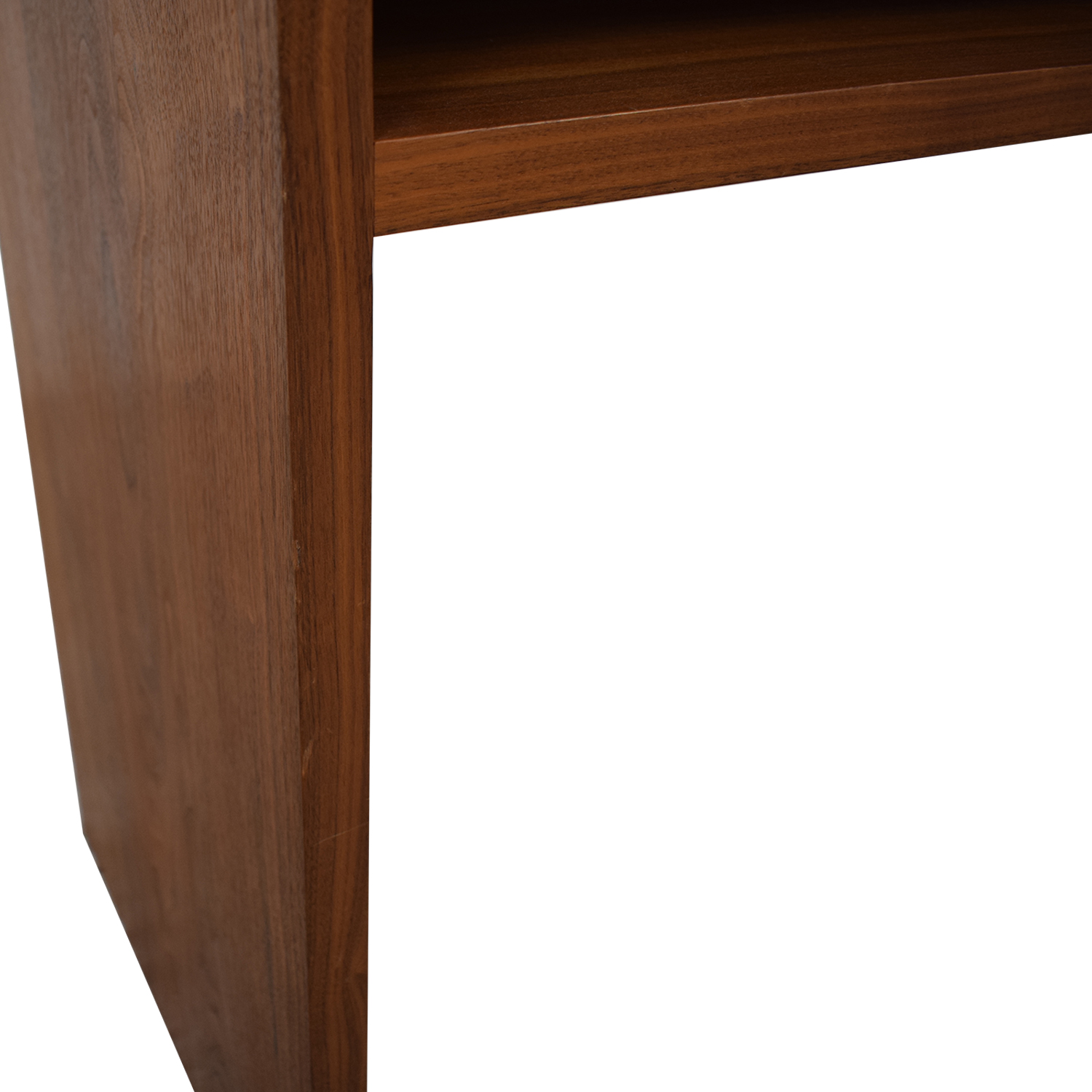 Custom Solid Walnut Desk with Enclosed Shelf Space