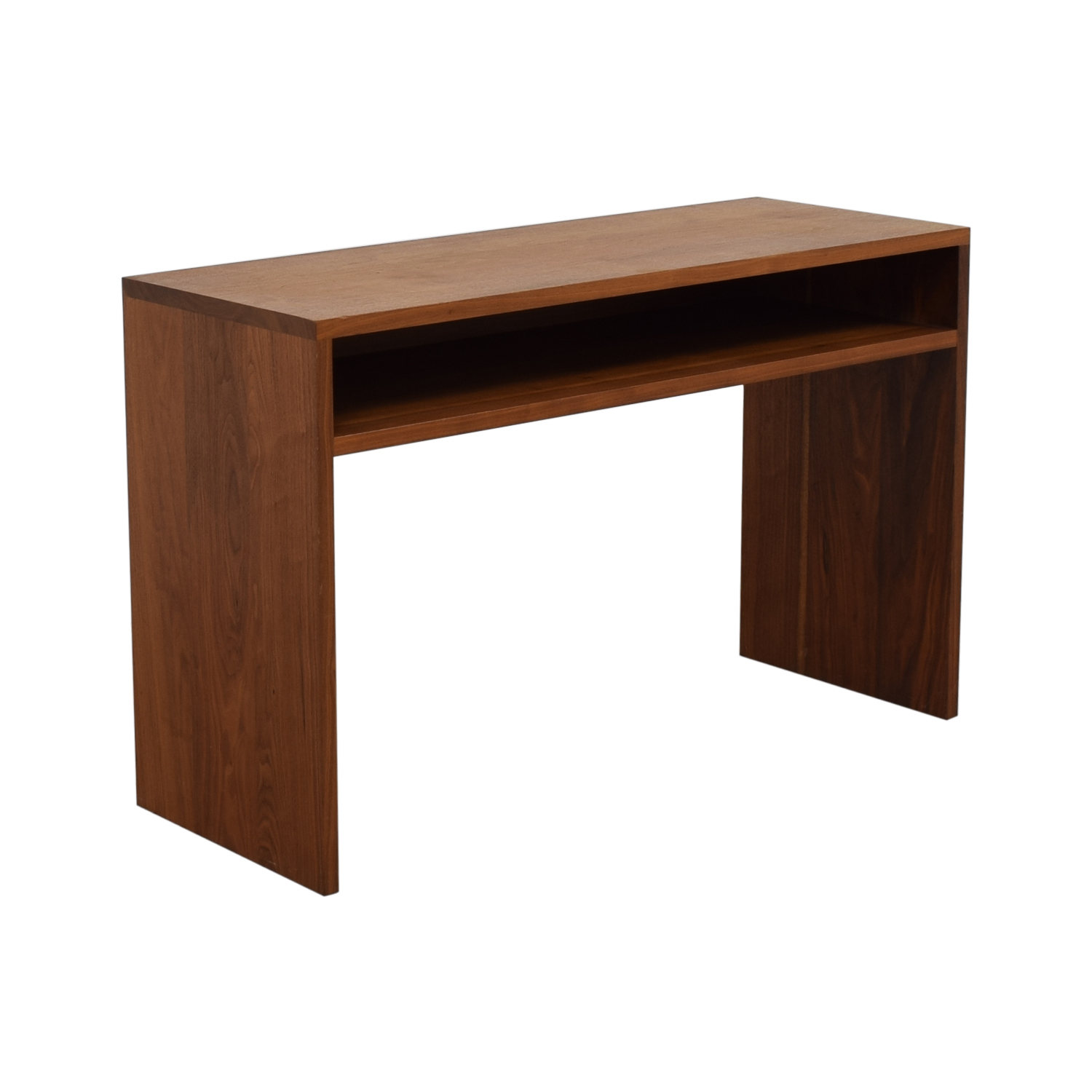 Custom Solid Walnut Desk with Enclosed Shelf Space on sale