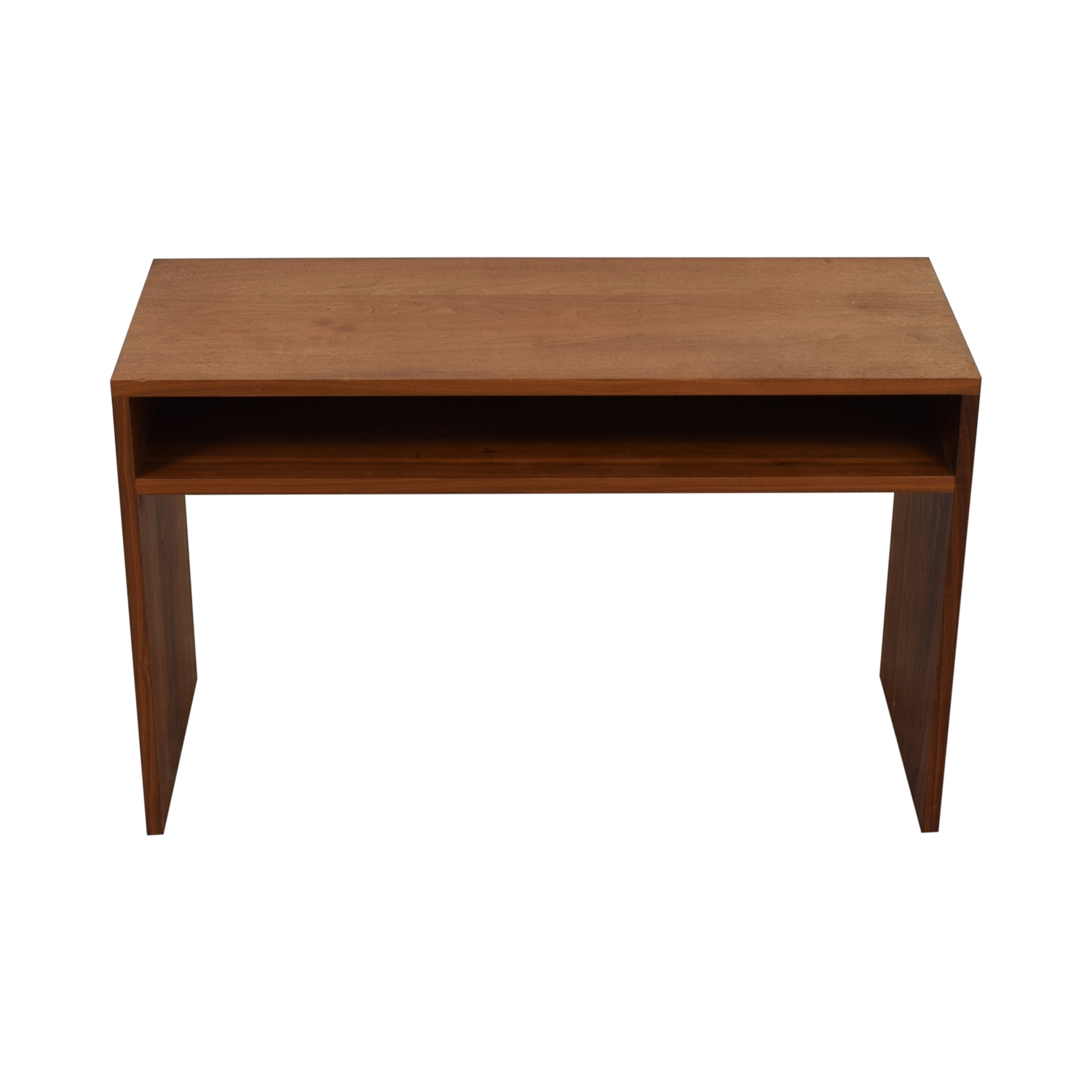 Custom Solid Walnut Desk with Enclosed Shelf Space sale