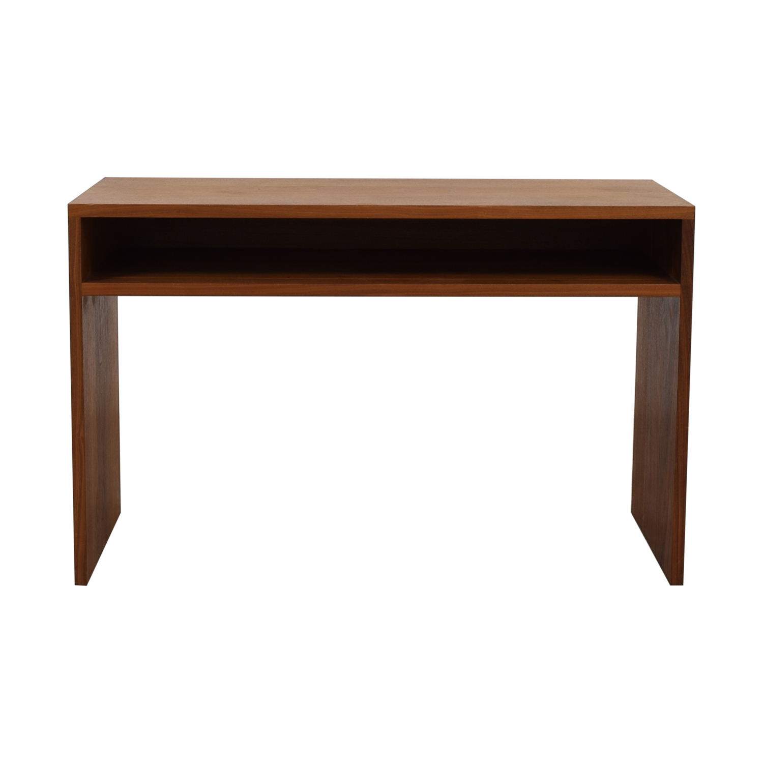 Custom Solid Walnut Desk with Enclosed Shelf Space discount