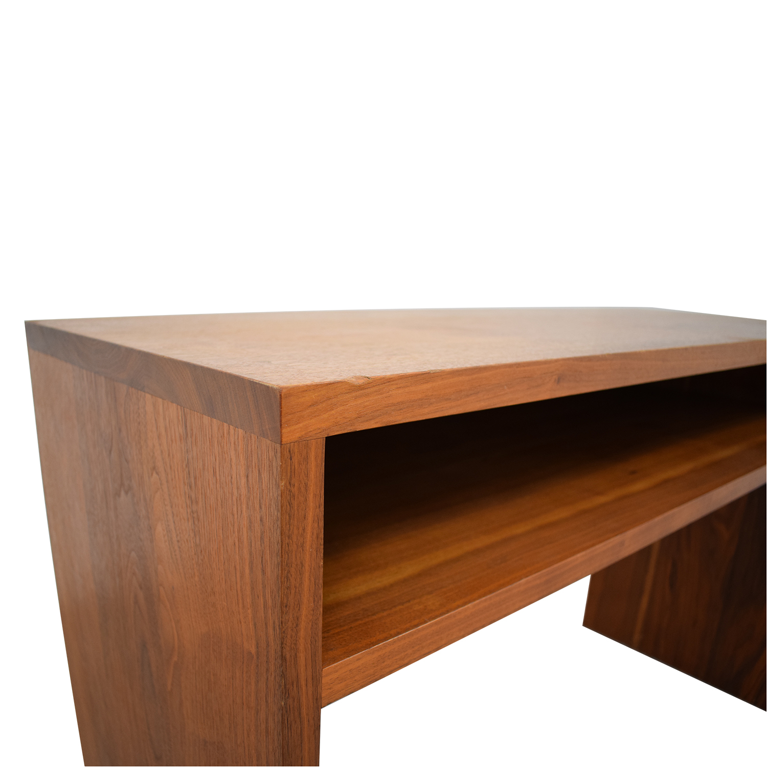Custom Solid Walnut Desk with Enclosed Shelf Space nyc