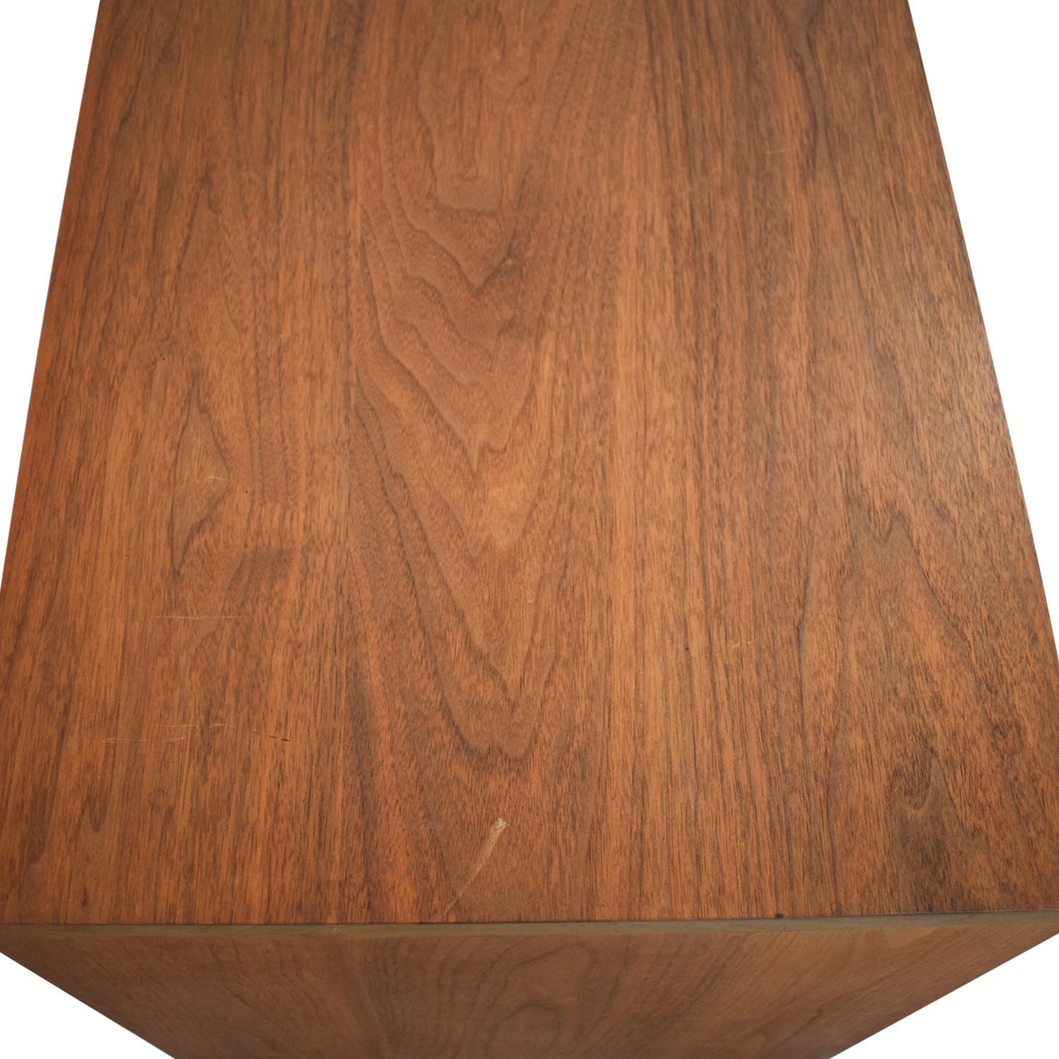 buy Custom Solid Walnut Coffee Table with Enclosed Shelf Space  Tables