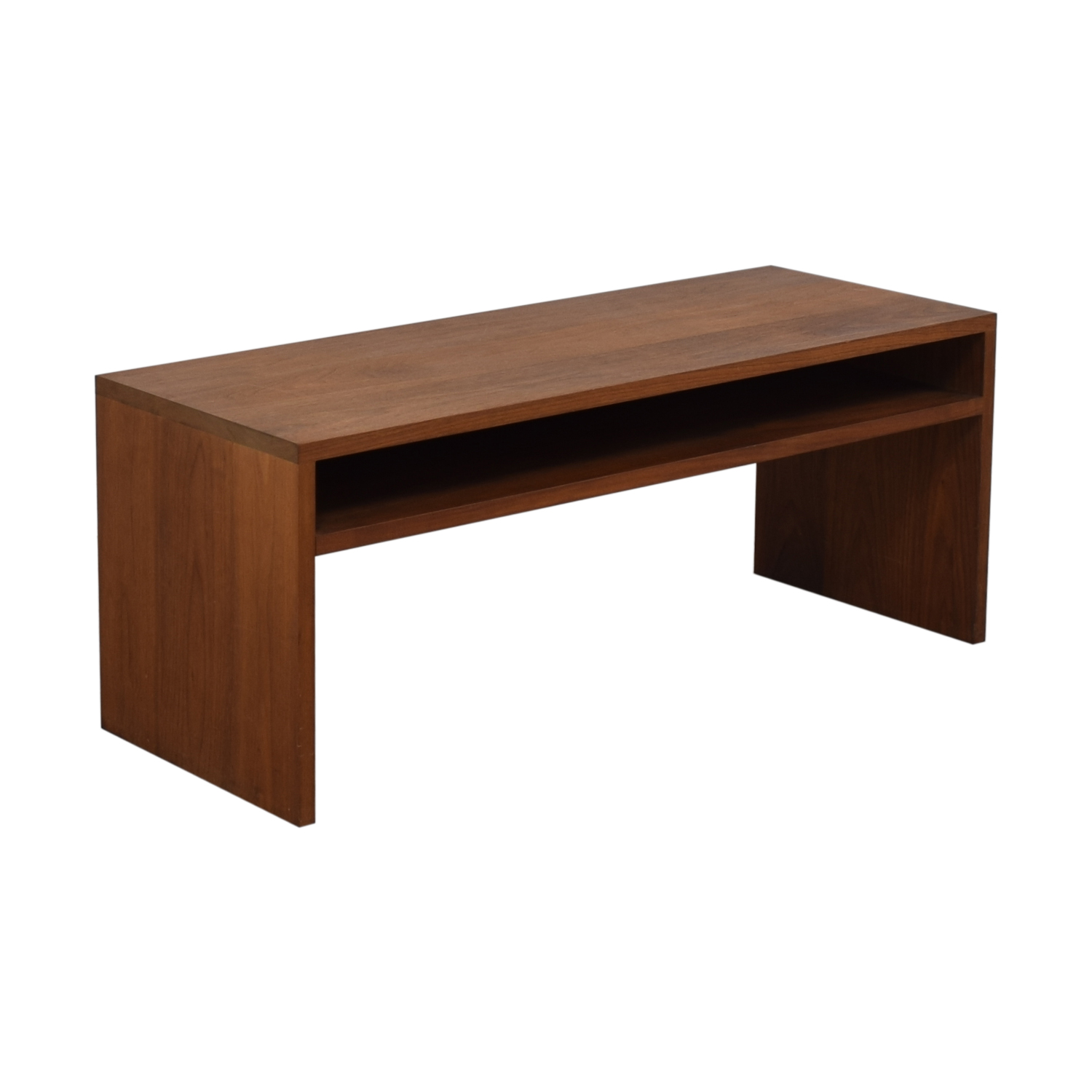 buy Custom Solid Walnut Coffee Table with Enclosed Shelf Space  Coffee Tables