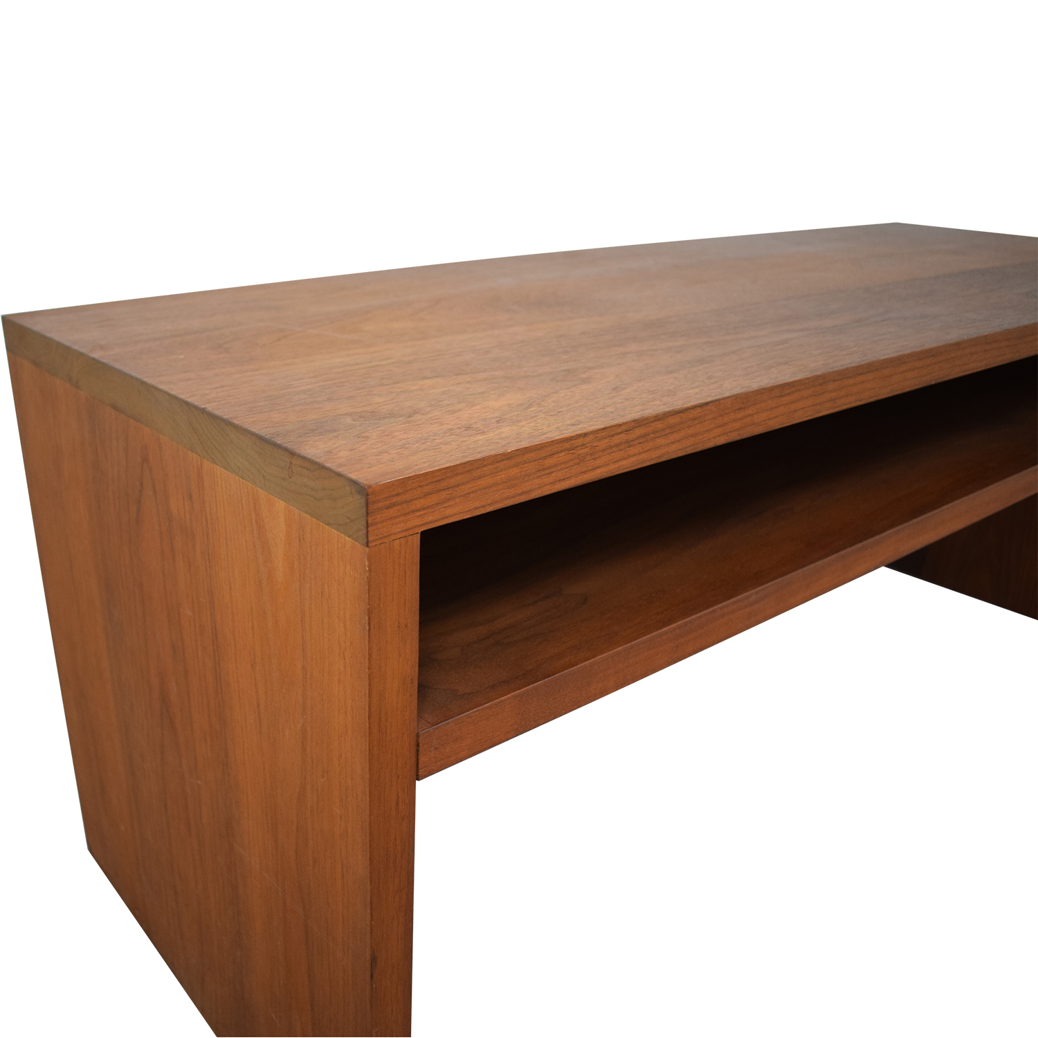 shop  Custom Solid Walnut Coffee Table with Enclosed Shelf Space online