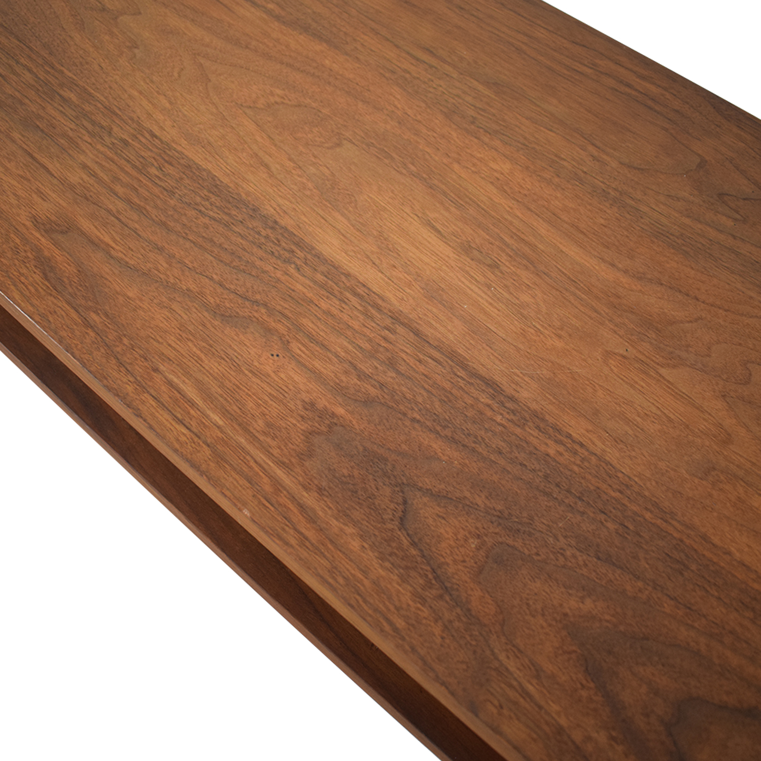 Custom Solid Walnut Coffee Table with Enclosed Shelf Space coupon