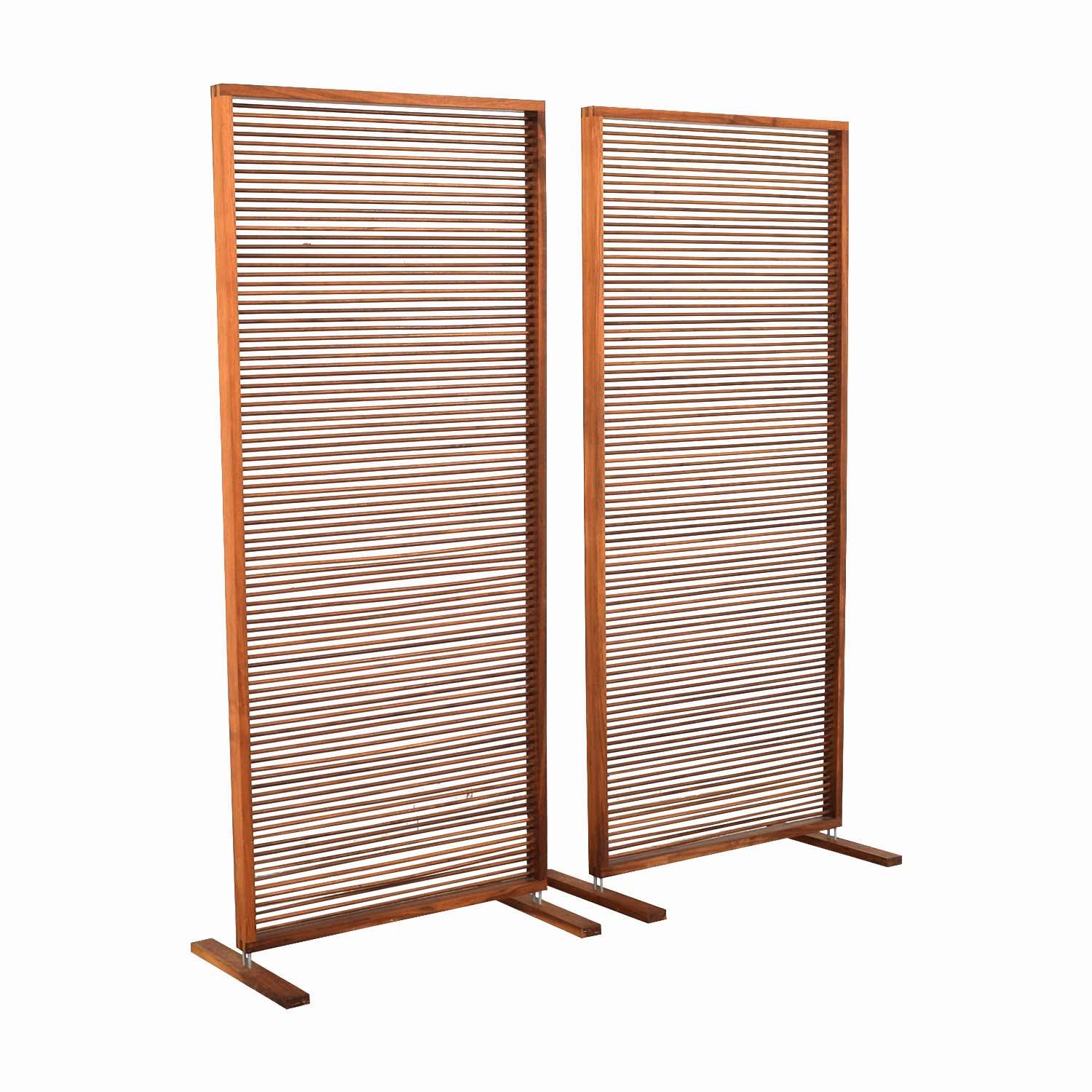 Custom Free Standing Solid Walnut Screen for sale
