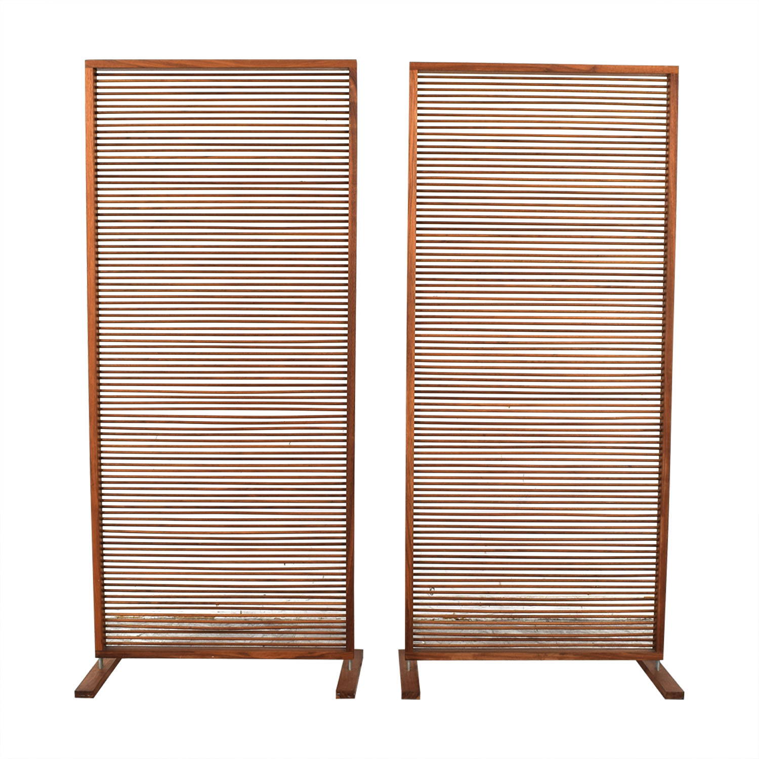 Custom Free Standing Solid Walnut Screen on sale