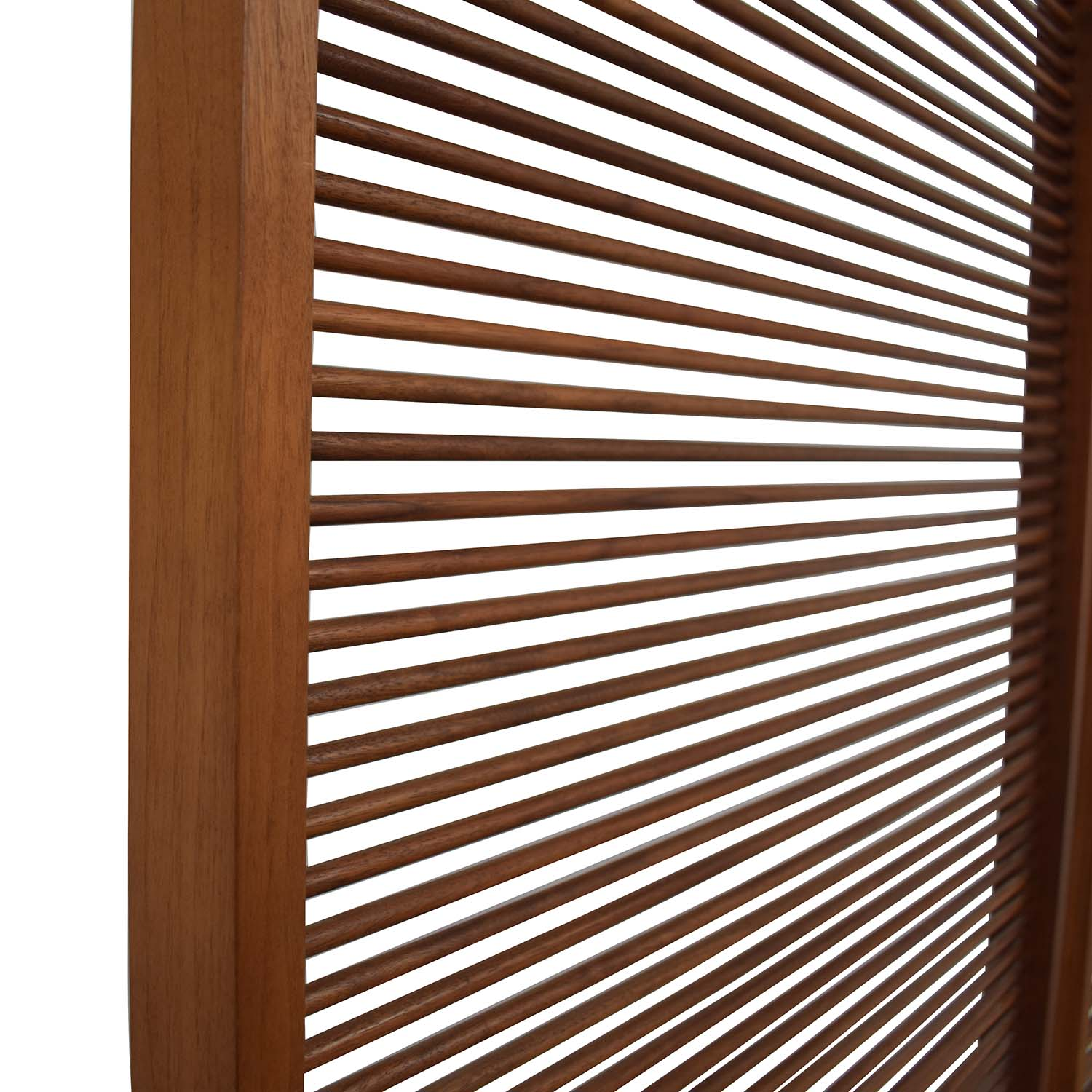 Custom Free Standing Solid Walnut Screen discount