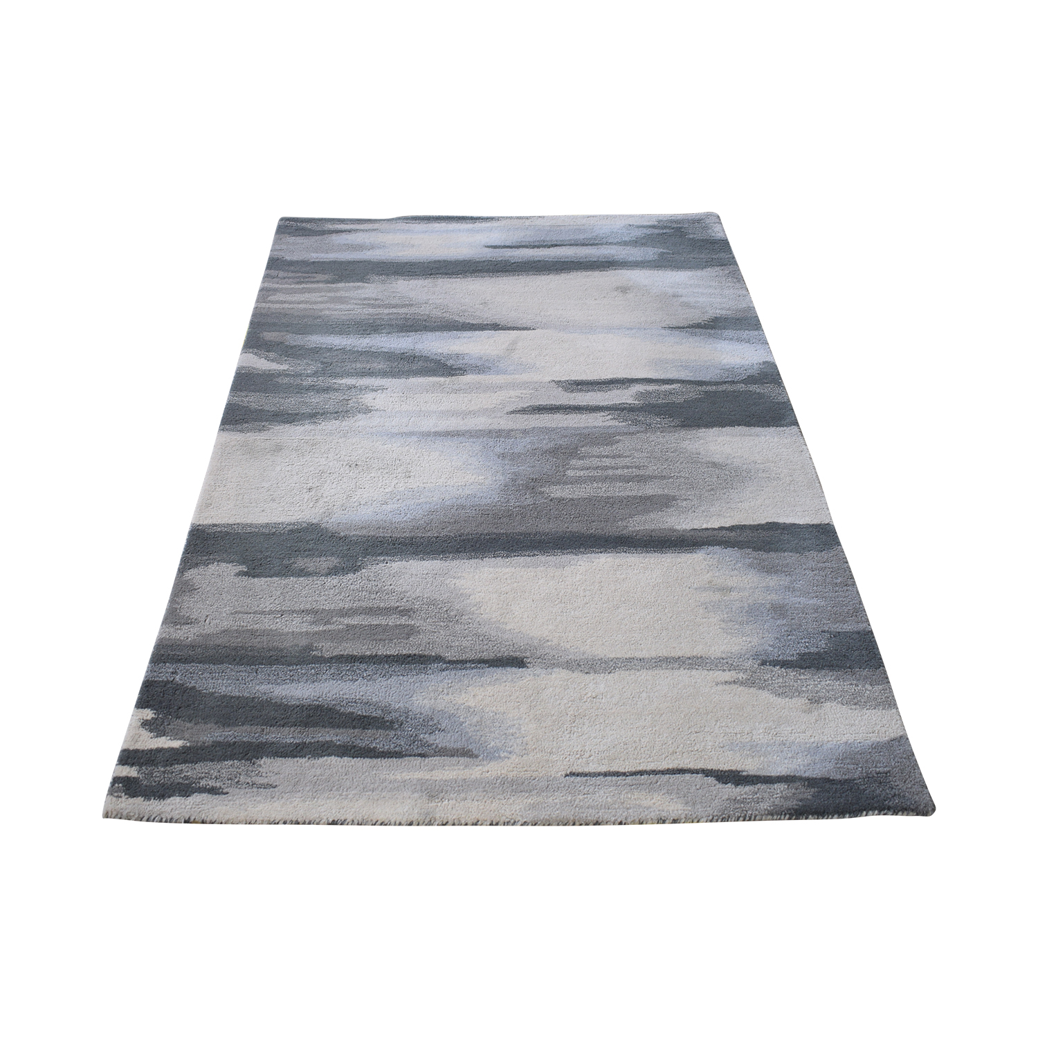 West Elm West Elm Faded Ikat Slate Rug Decor