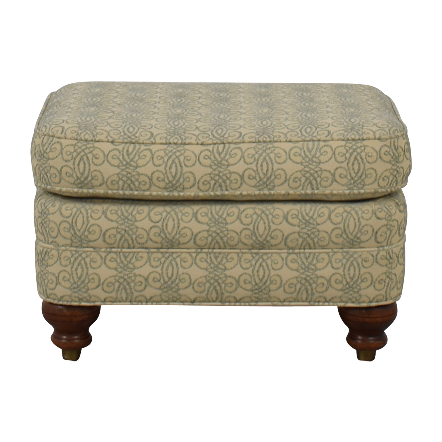 Ethan Allen Print Upholstered Ottoman / Chairs