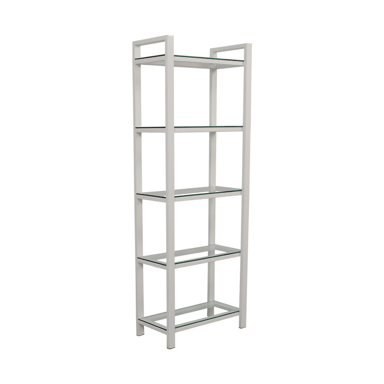 buy Crate & Barrel Pilsen Salt Bookshelves Crate & Barrel Storage