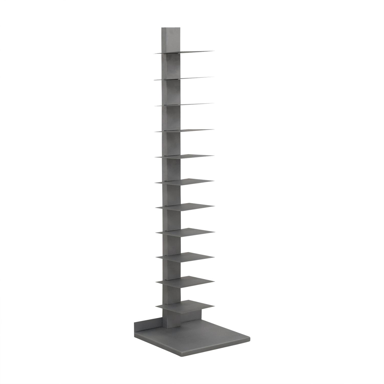 CB2 CB2 Spine Array Bookcase silver