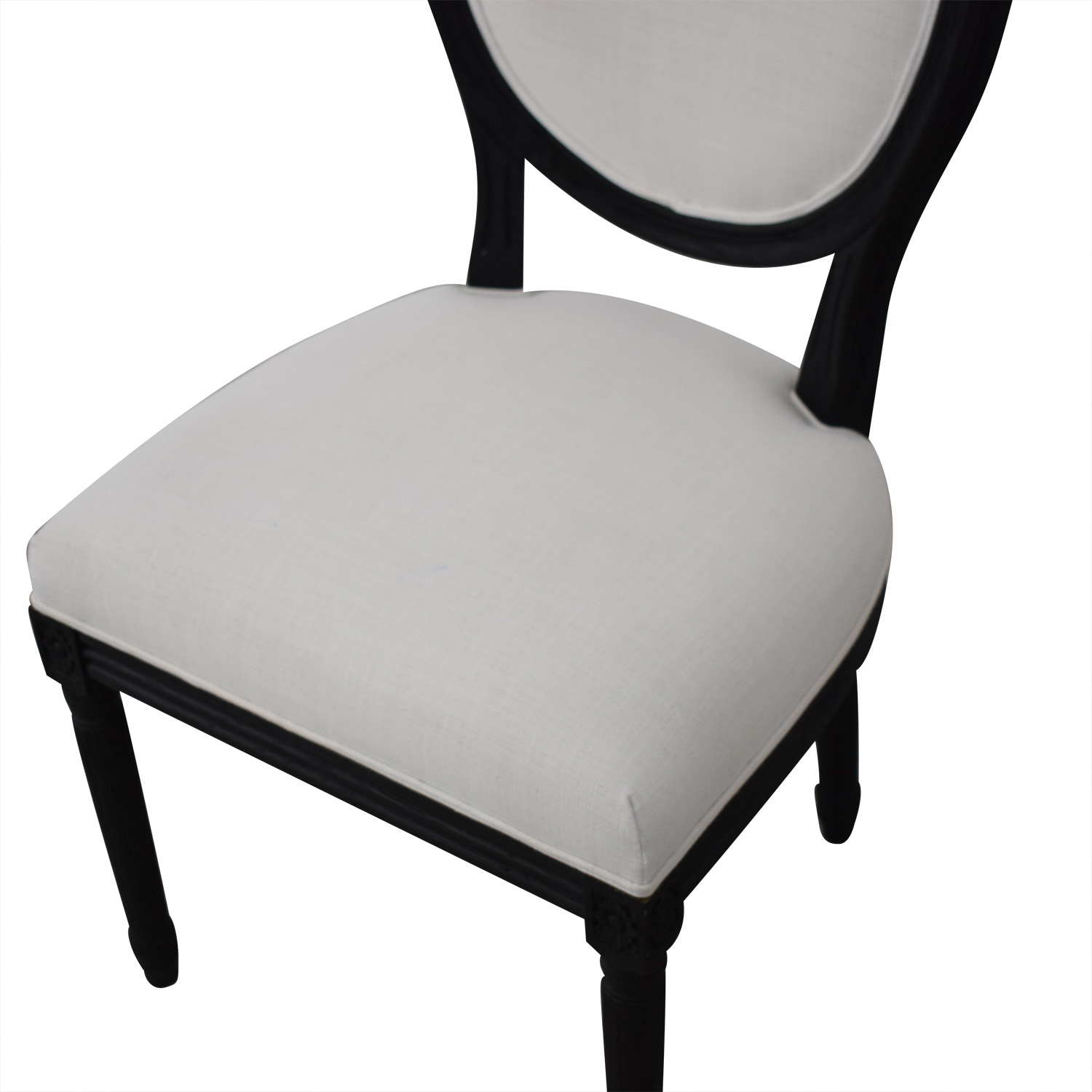 Restoration Hardware Restoration Hardware Vintage French Round Fabric Side Chairs for sale