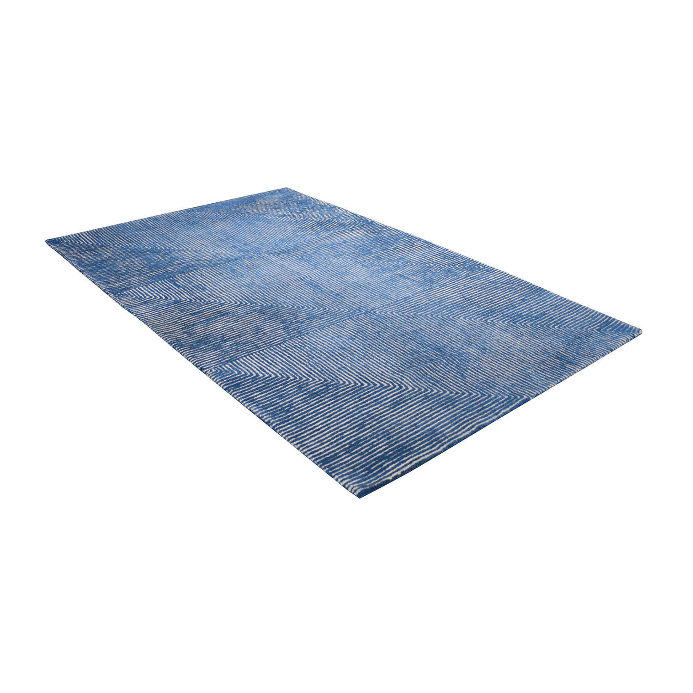 shop CB2 5x8 Fade to Blue Rug CB2