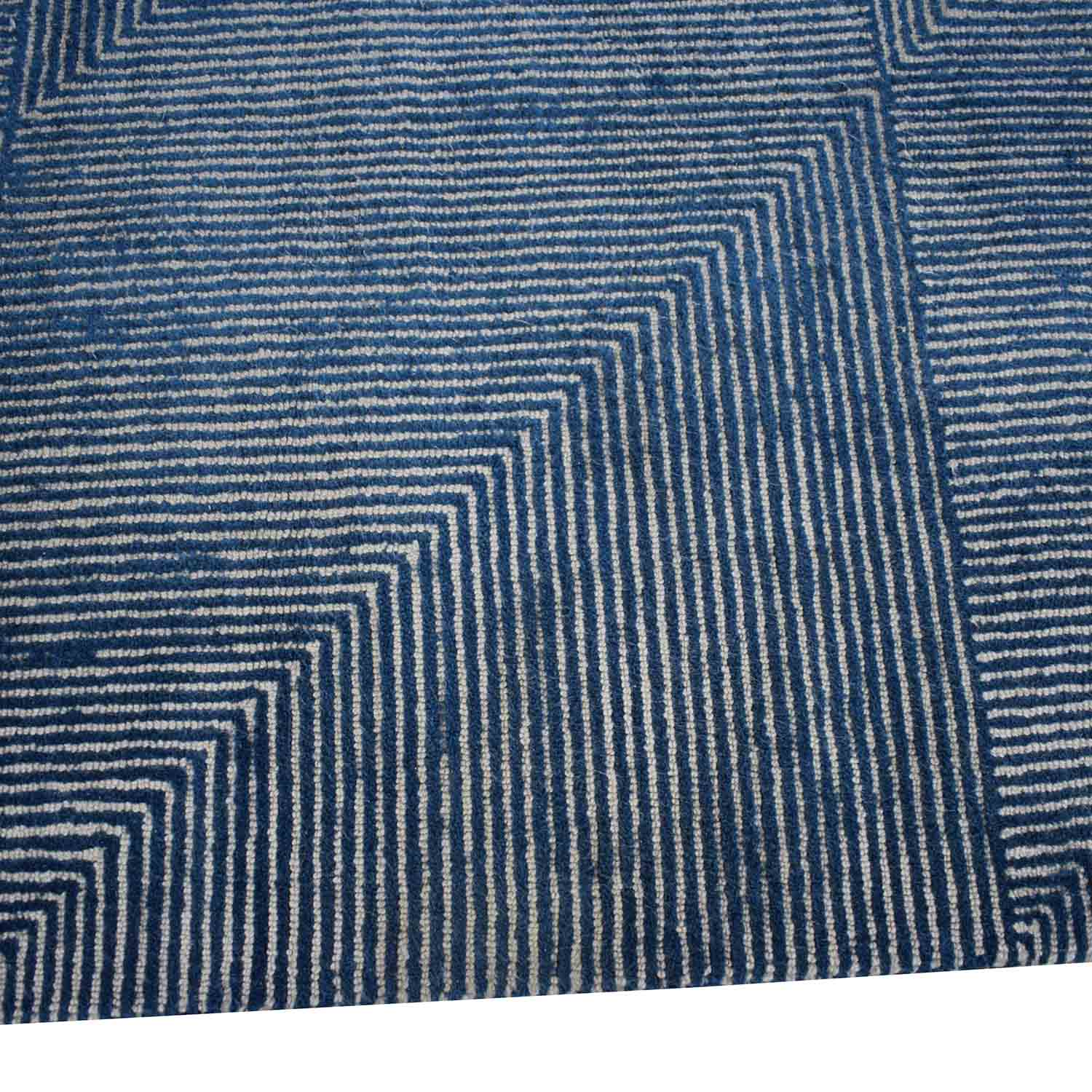 CB2 CB2 5x8 Fade to Blue Rug on sale