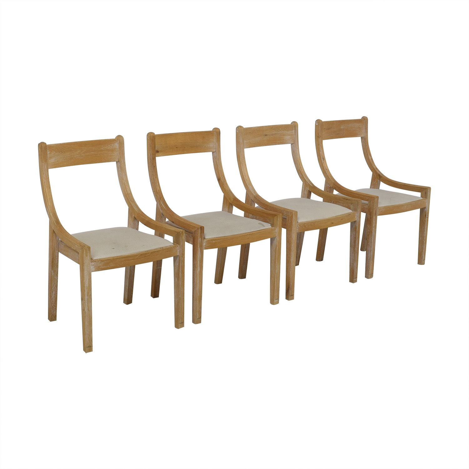 Birch Lane Birch Lane Solid Wood Dining Chairs tan & beige