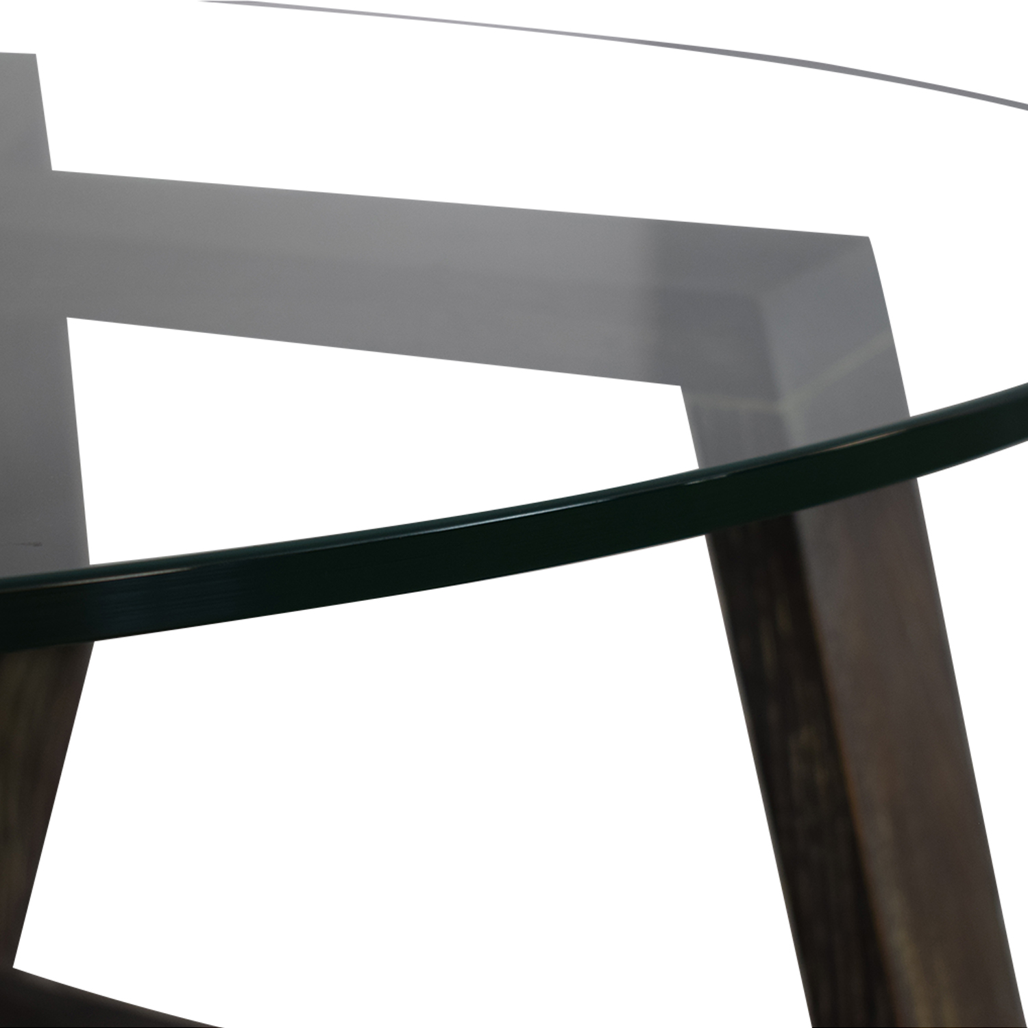 CB2 CB2 Round Glass and Wood Coffee Table discount