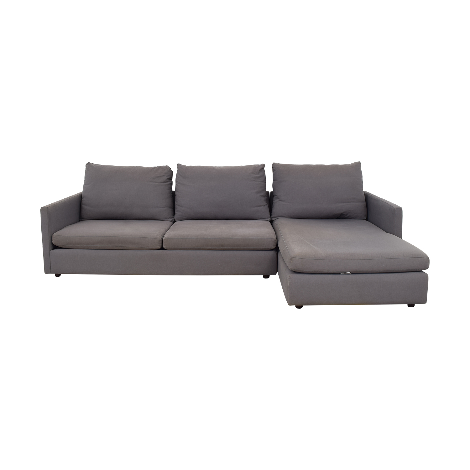 ABC Carpet & Home Cobble Hill Chaise Sectional Sofa ABC Carpet & Home