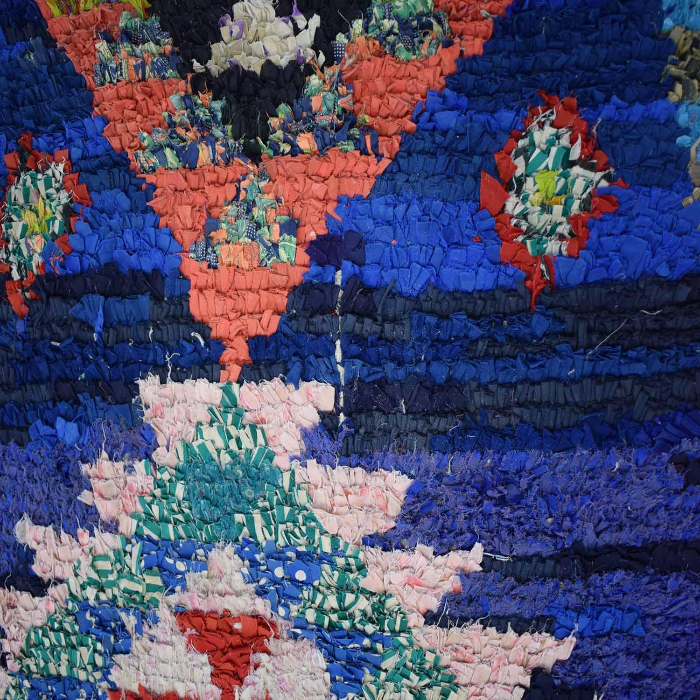 Vintage Moroccan Boucherouite Rag Rug