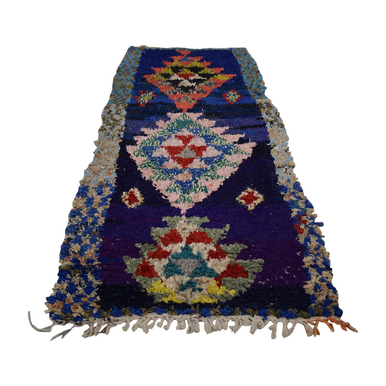 shop Vintage Moroccan Boucherouite Rag Rug