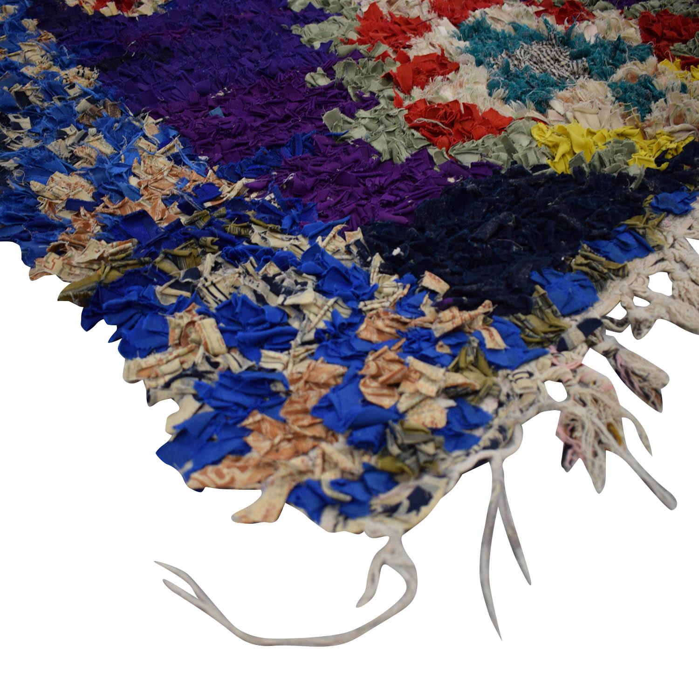 shop Vintage Moroccan Boucherouite Rag Rug  Rugs