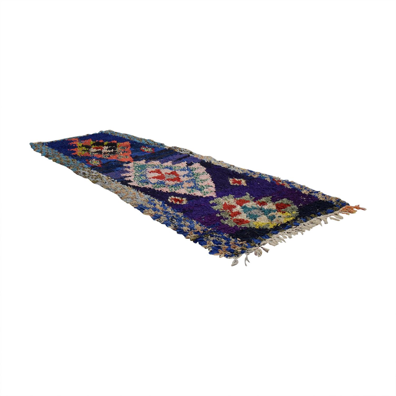Vintage Moroccan Boucherouite Rag Rug sale