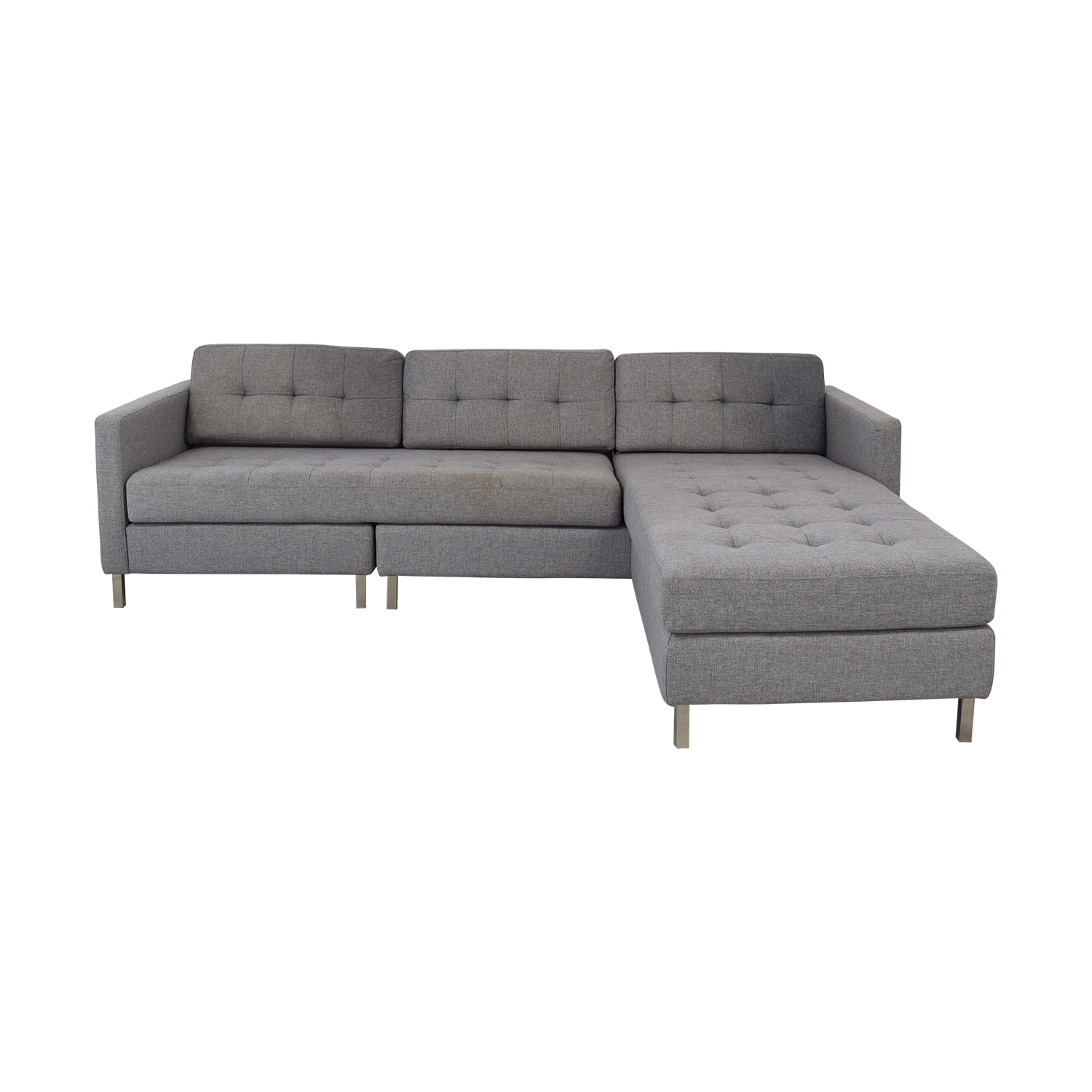 CB2 Ditto II Sectional Sofa sale