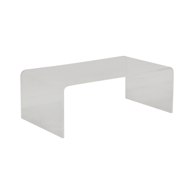 CB2 Peekaboo Acrylic Coffee Table / Tables