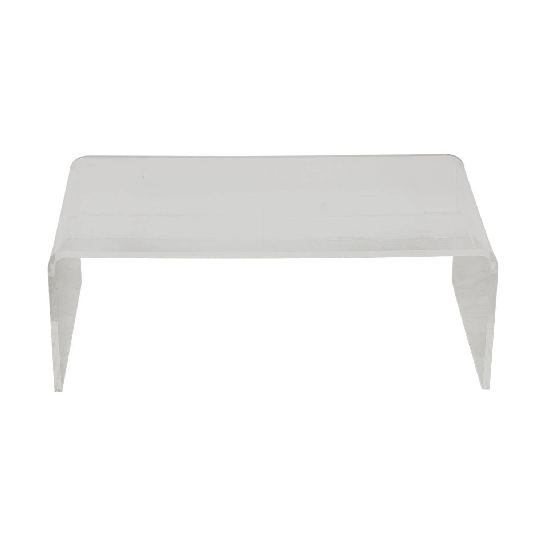 CB2 CB2 Peekaboo Acrylic Coffee Table for sale