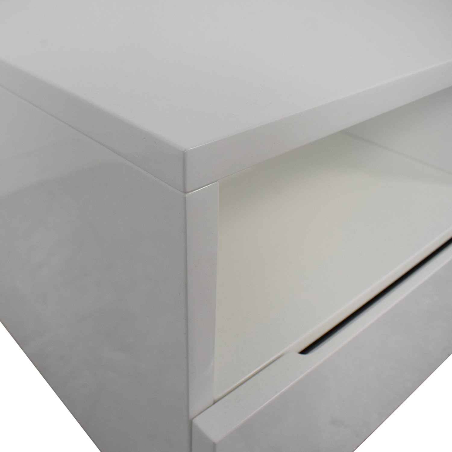 CB2 Chill White Media Console CB2