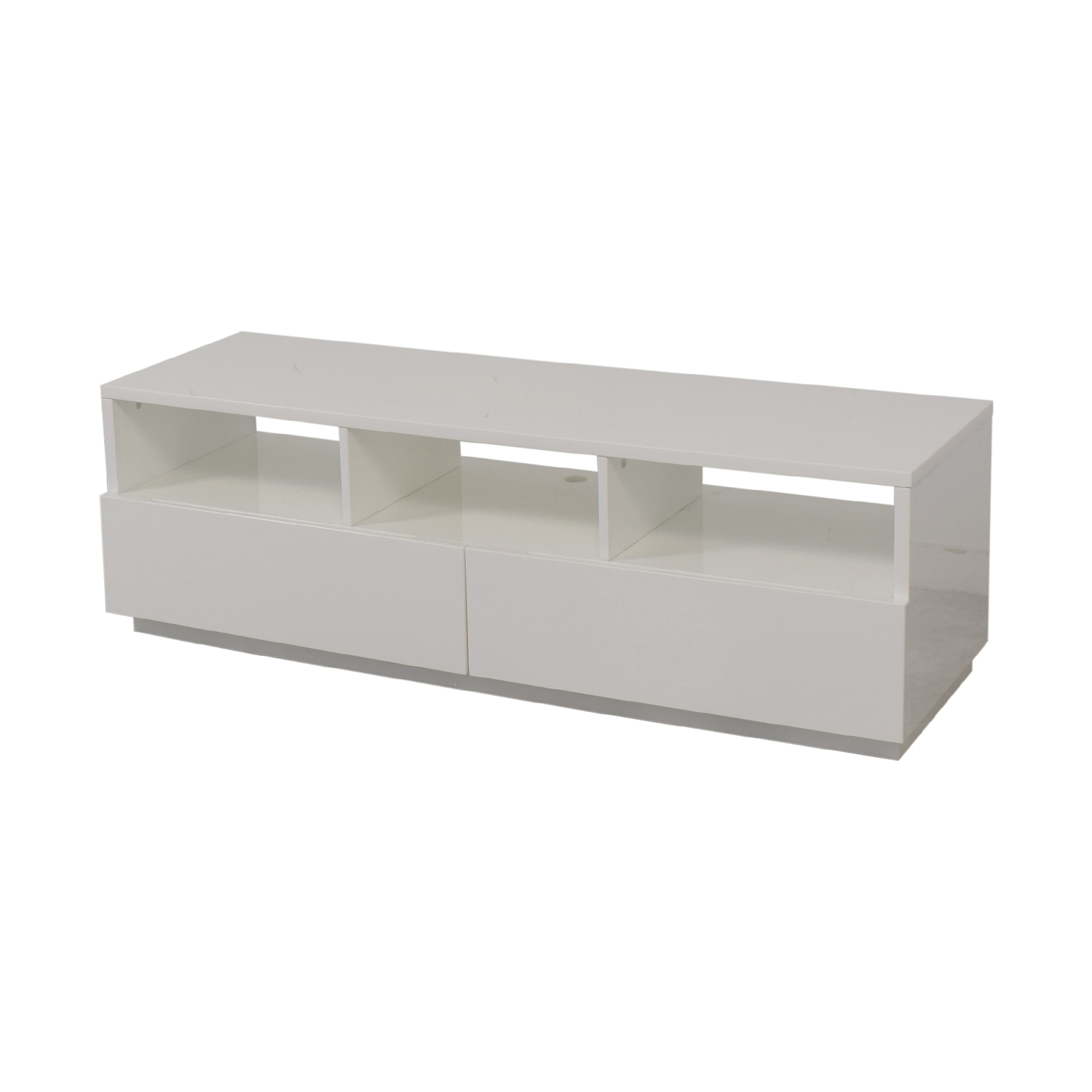 shop CB2 Chill White Media Console CB2 Media Units