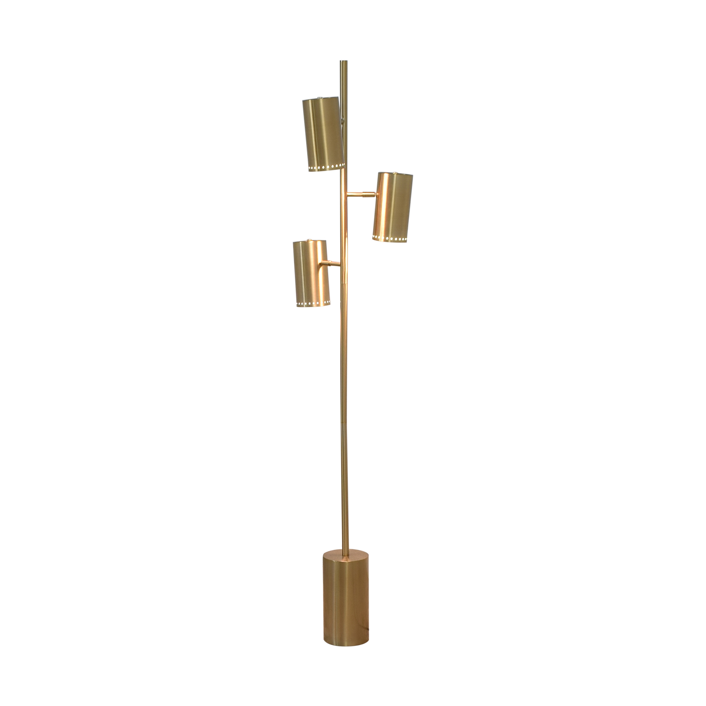 CB2 Brass Trio Floor Lamp CB2