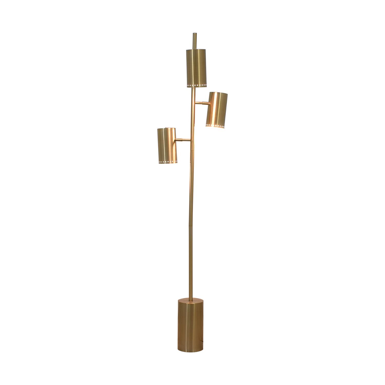 shop CB2 Brass Trio Floor Lamp CB2