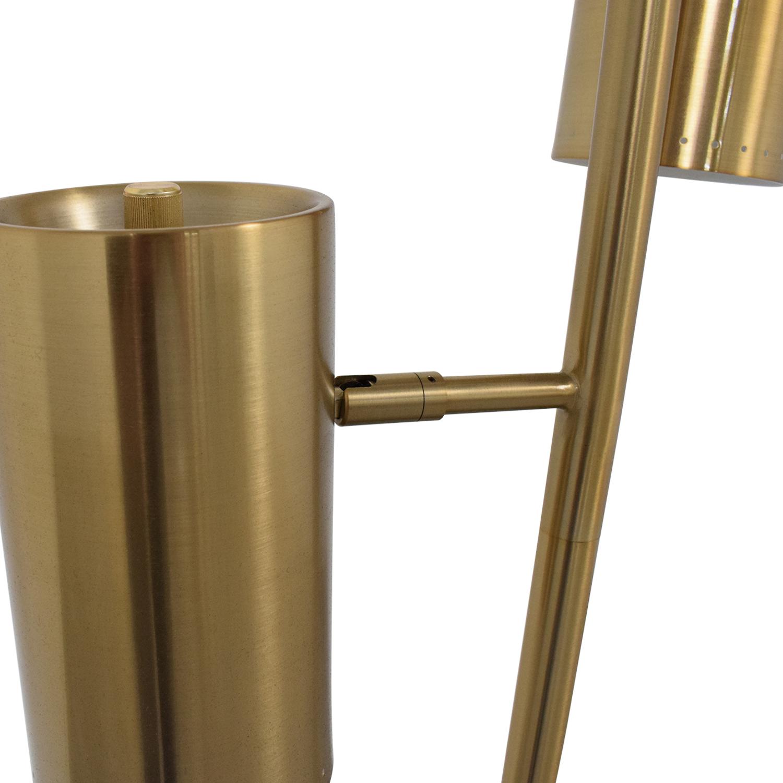 CB2 CB2 Brass Trio Floor Lamp nyc