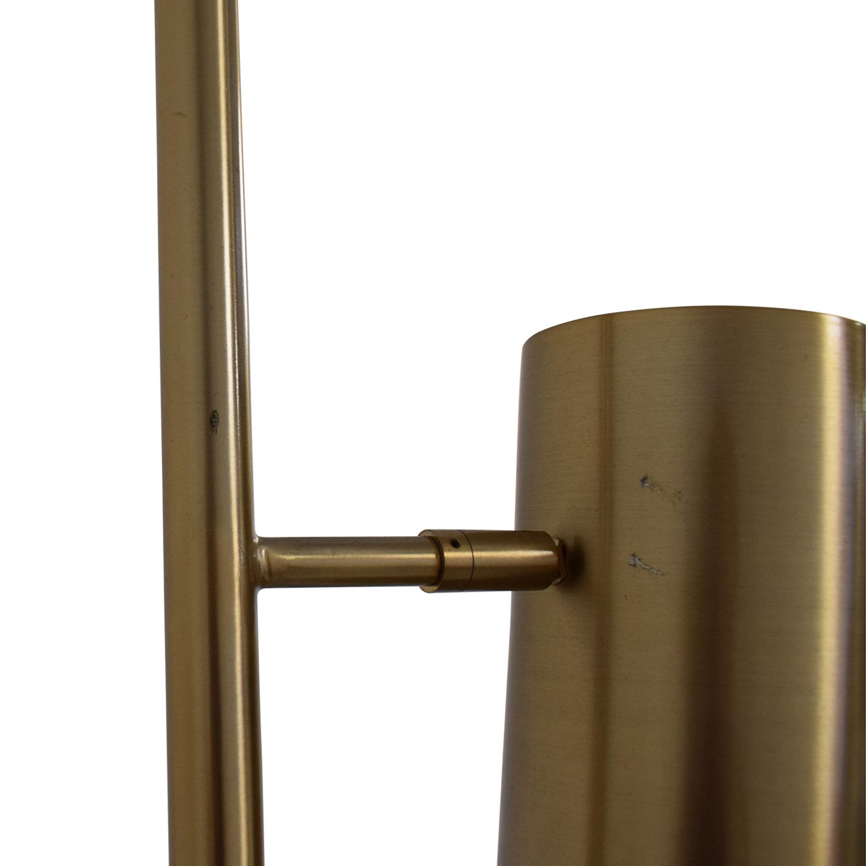 CB2 CB2 Brass Trio Floor Lamp gold