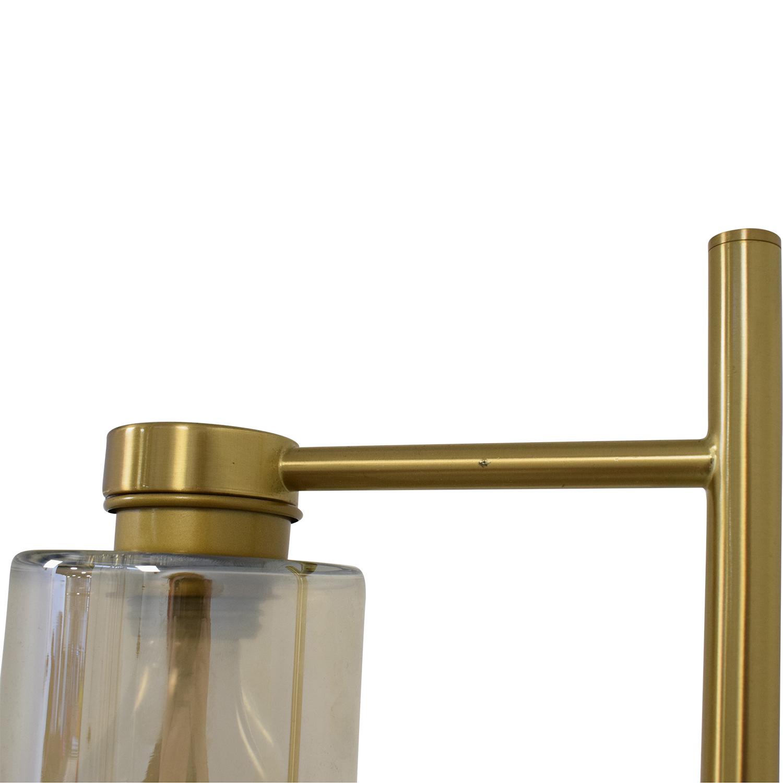 West Elm West Elm Glass Cylinder Floor Lamp used