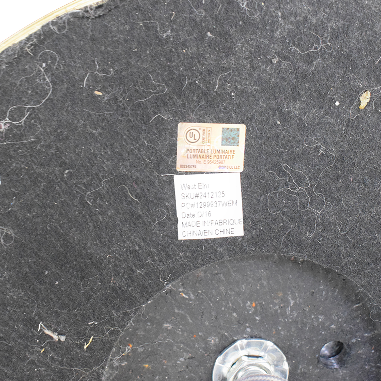 West Elm West Elm Glass Cylinder Floor Lamp nj