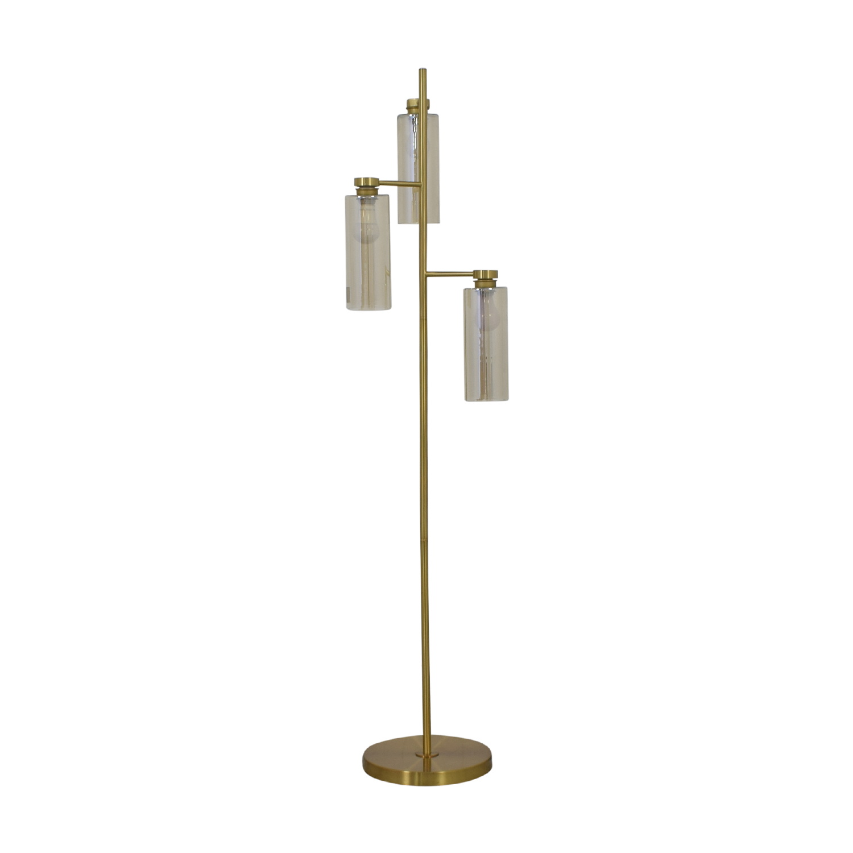 West Elm West Elm Glass Cylinder Floor Lamp dimensions