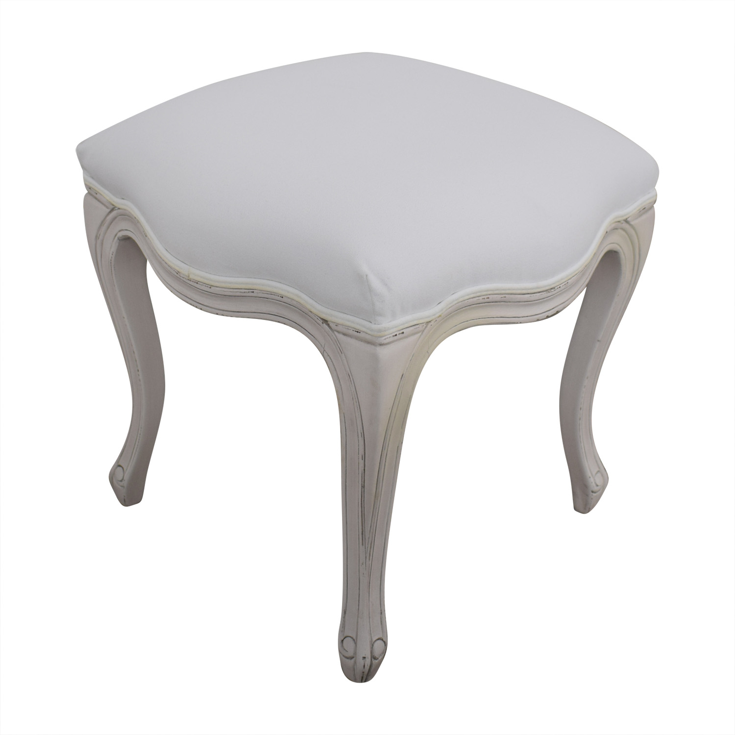 Restoration Hardware Sophie Upholstered Stool sale
